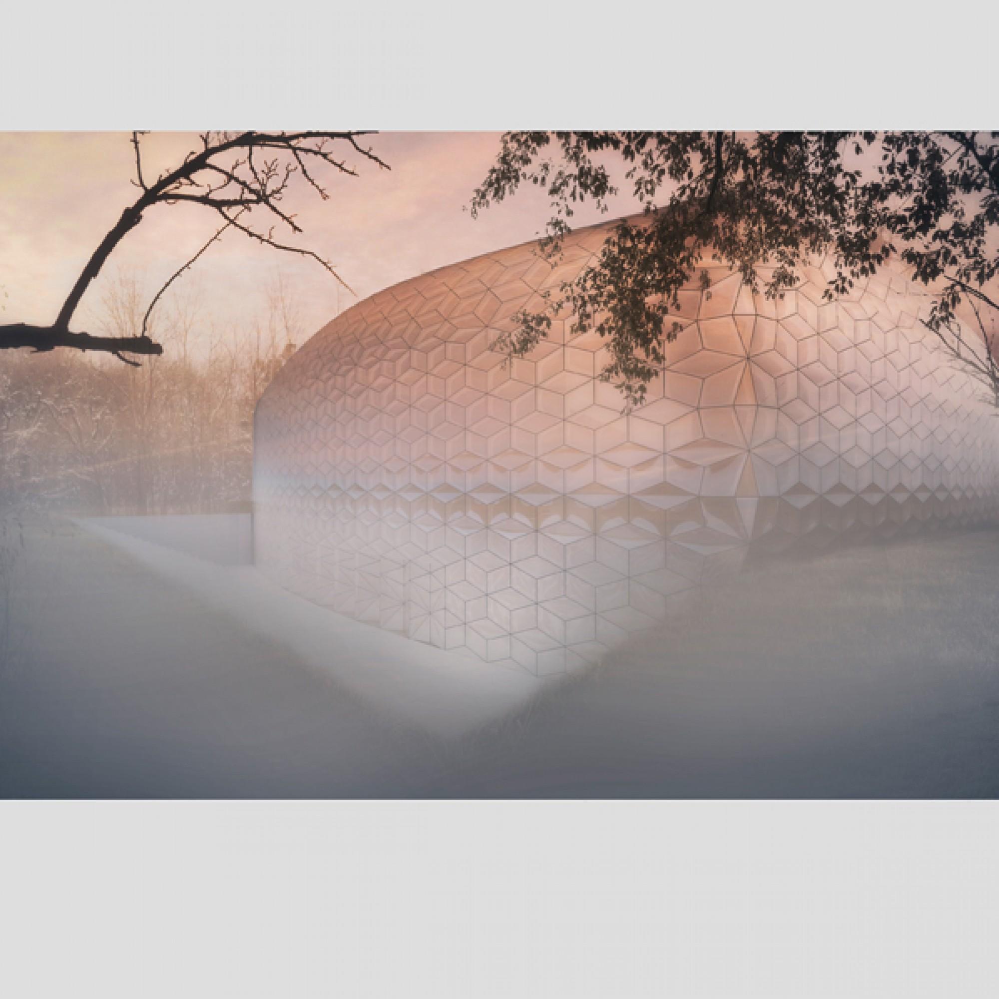 Von Aussen erinnert das Zentrum an einen riesigen Wassertropfen... (zvg)