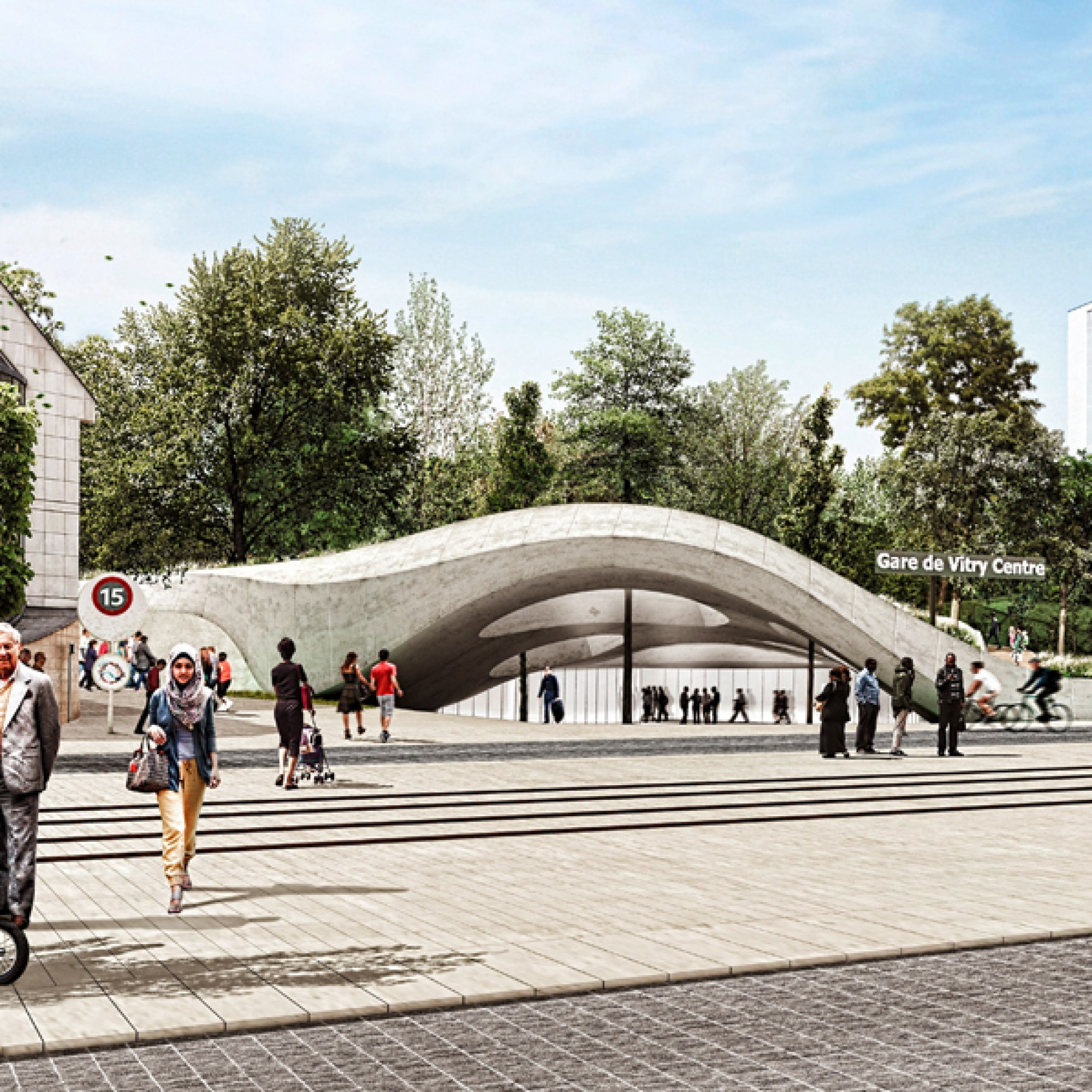 Als hätte sich der Park angehoben: die Metrostation des Ateliers King Kong. (zvg) 1/3