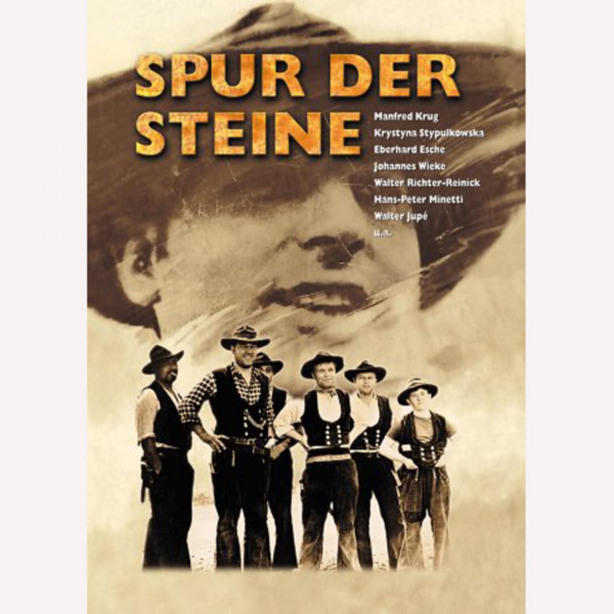 """Plakat zur Aufführung des Films """"Spur der Steine"""", der bereits nach drei Tagen wieder aus den DDR-Kinos verschwand."""
