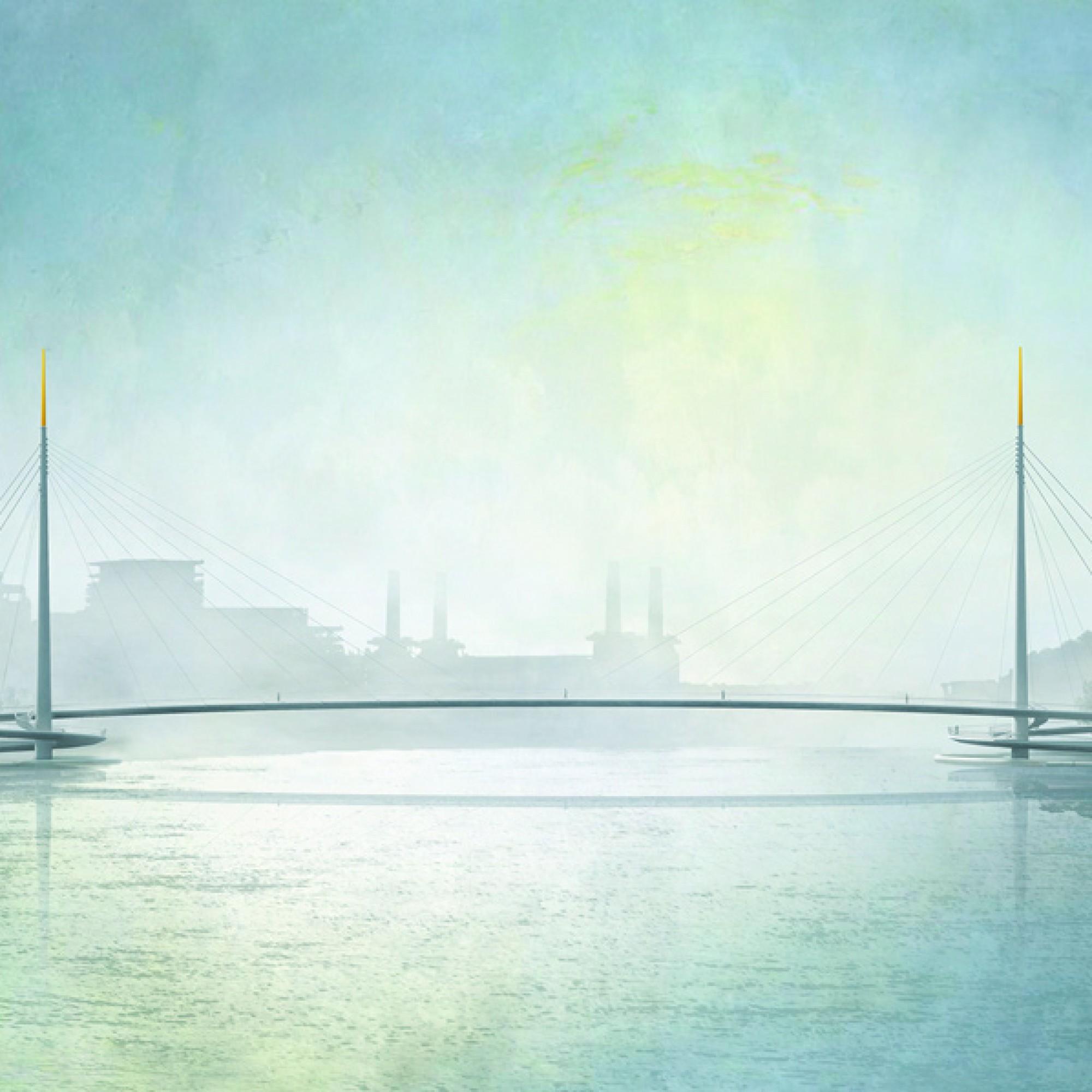 So soll die neue Themse-Brücke dereinst aussehen (Visualisierungen zvg)