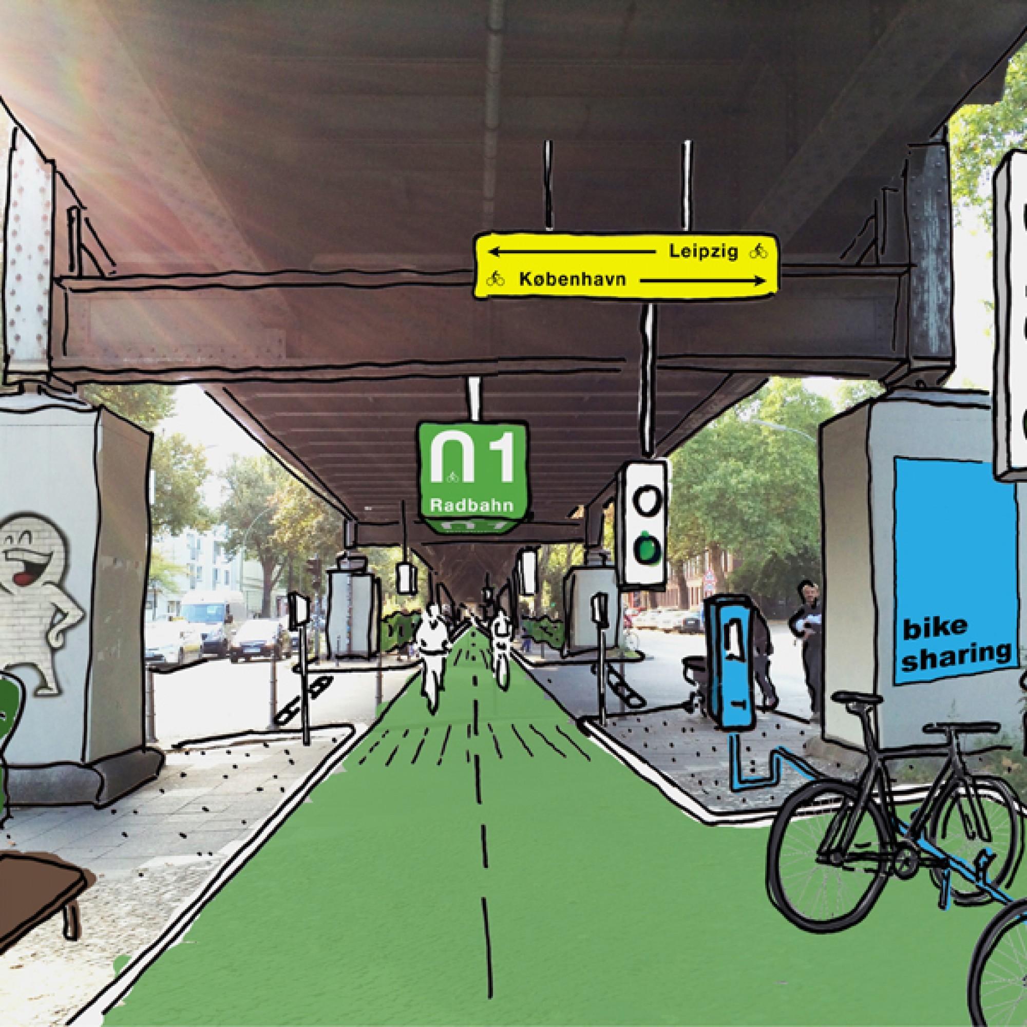 …und ampelgesteuerte Kreuzungen sind geplant.