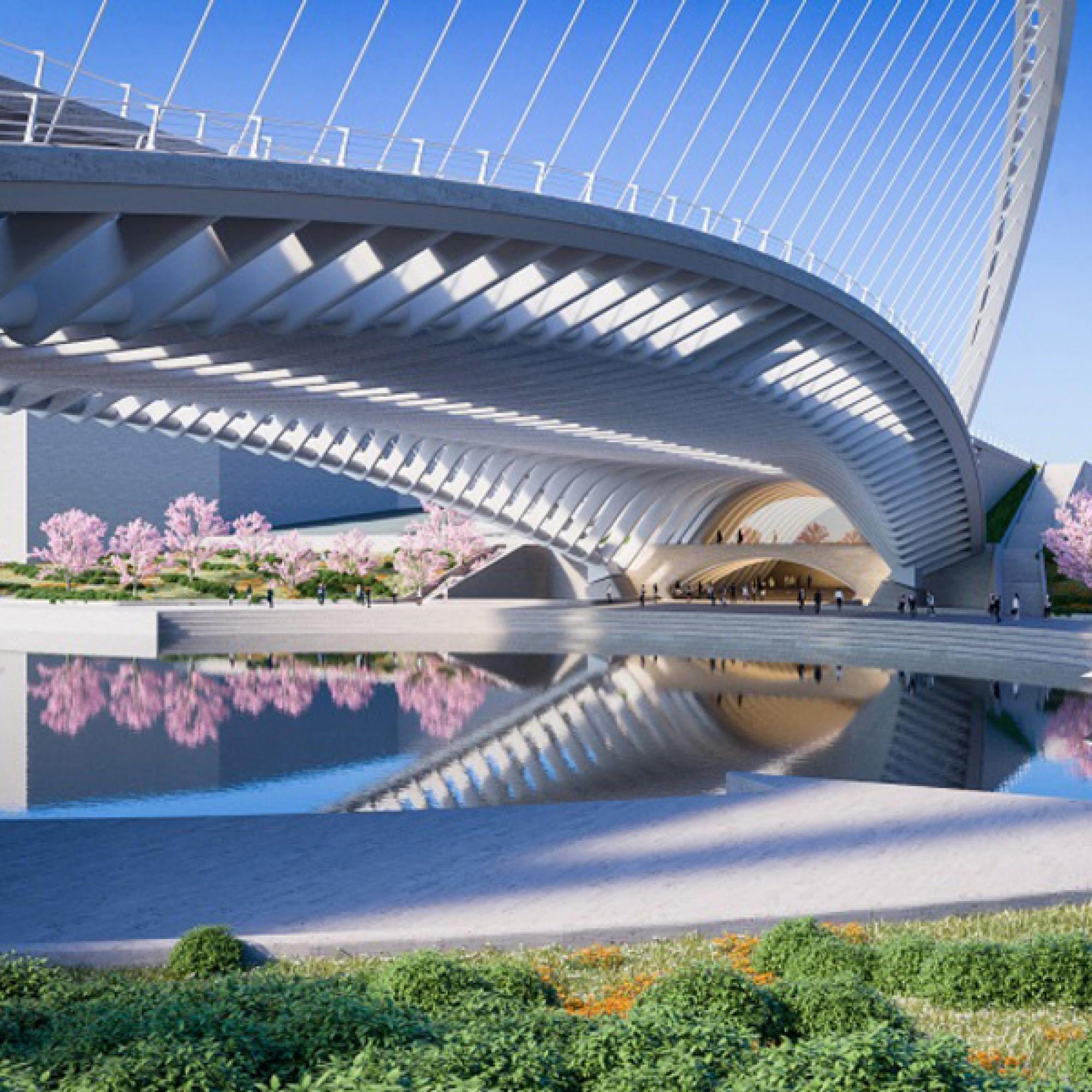 Bogen und Unterseite der Licong-Brücke