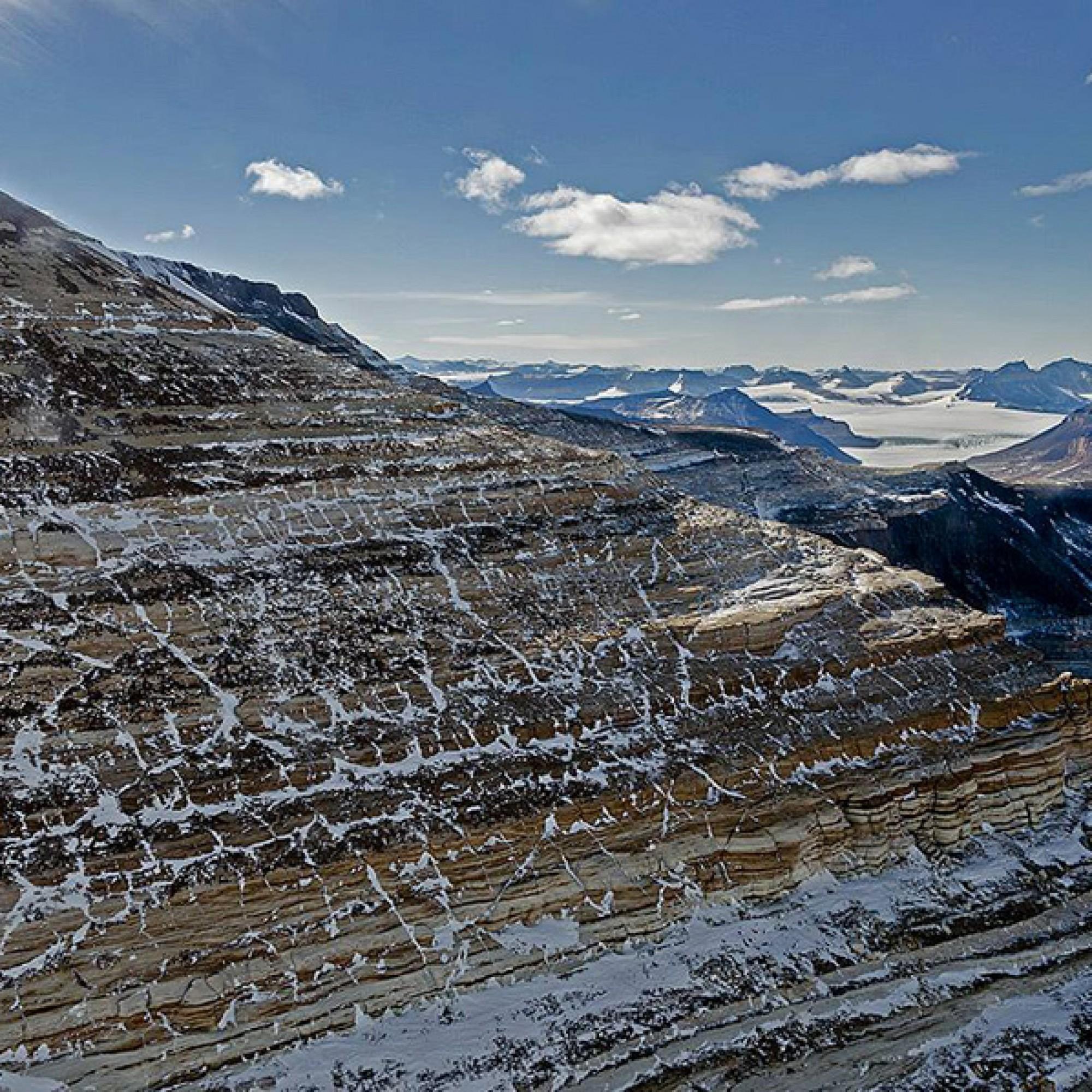 Transantarktisches Gebirge.