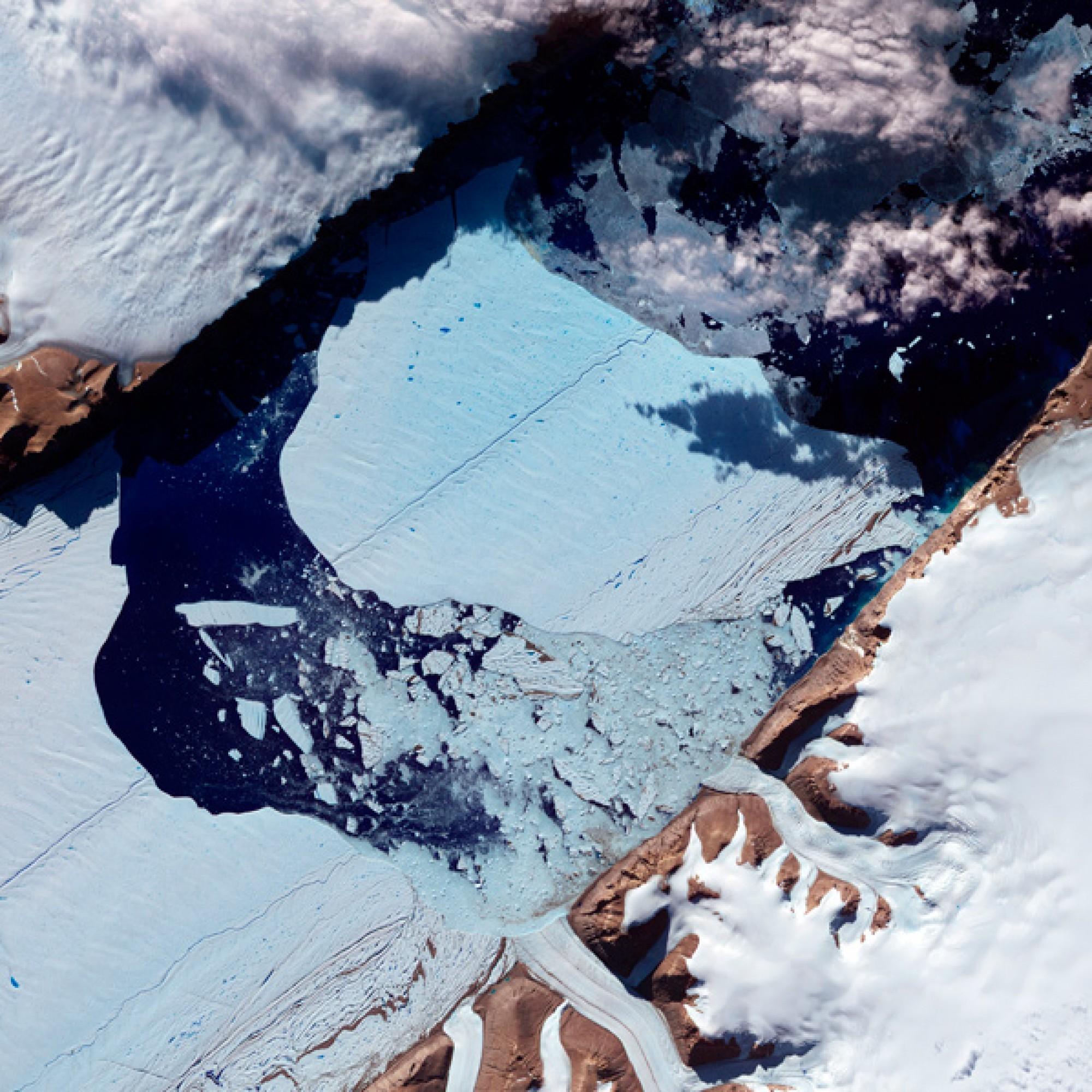 Petermann-Gletscher in Grönland.