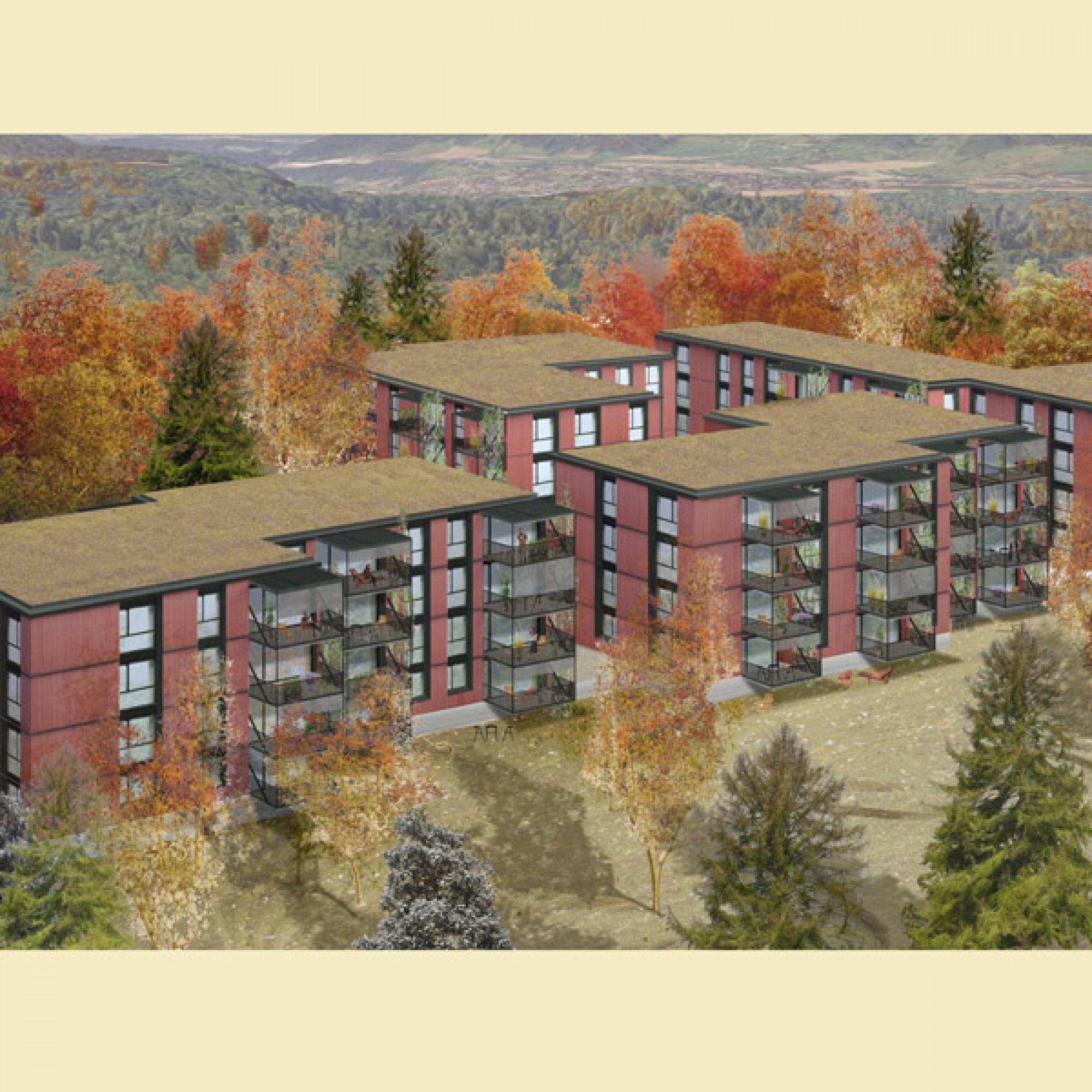 Die geplanten Mehrfamilienhäuser (Bilder zvg)