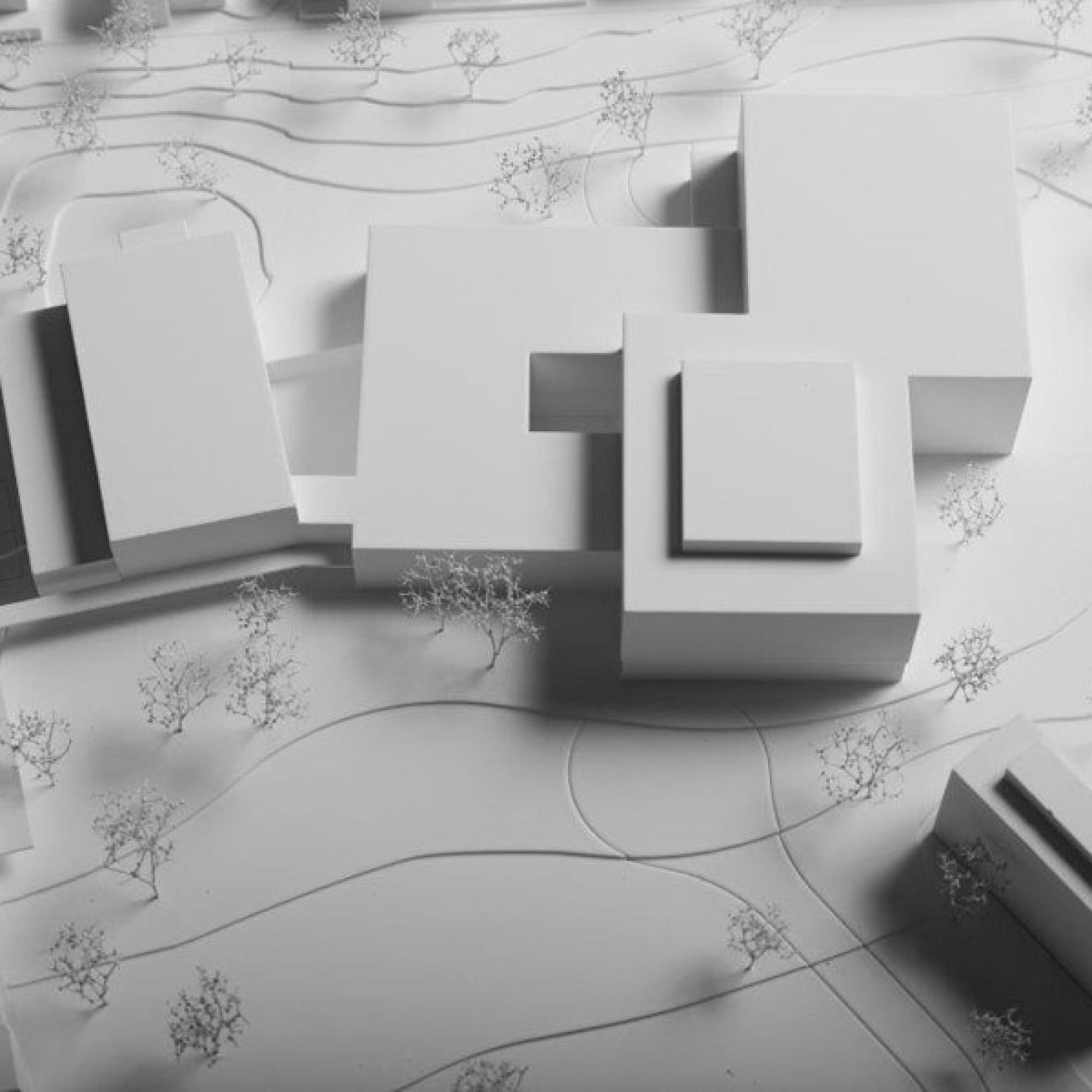 Modell des neuen Kantonsspitals Uri