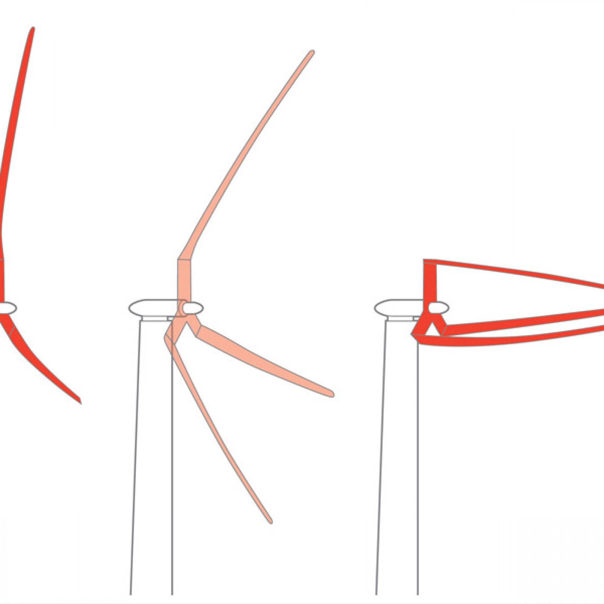 Wenn der Wind zu stark wird, sollen sich die Rotoren in Windrichtung abklappen können. (TrevorJohnston.com/Popular Science)