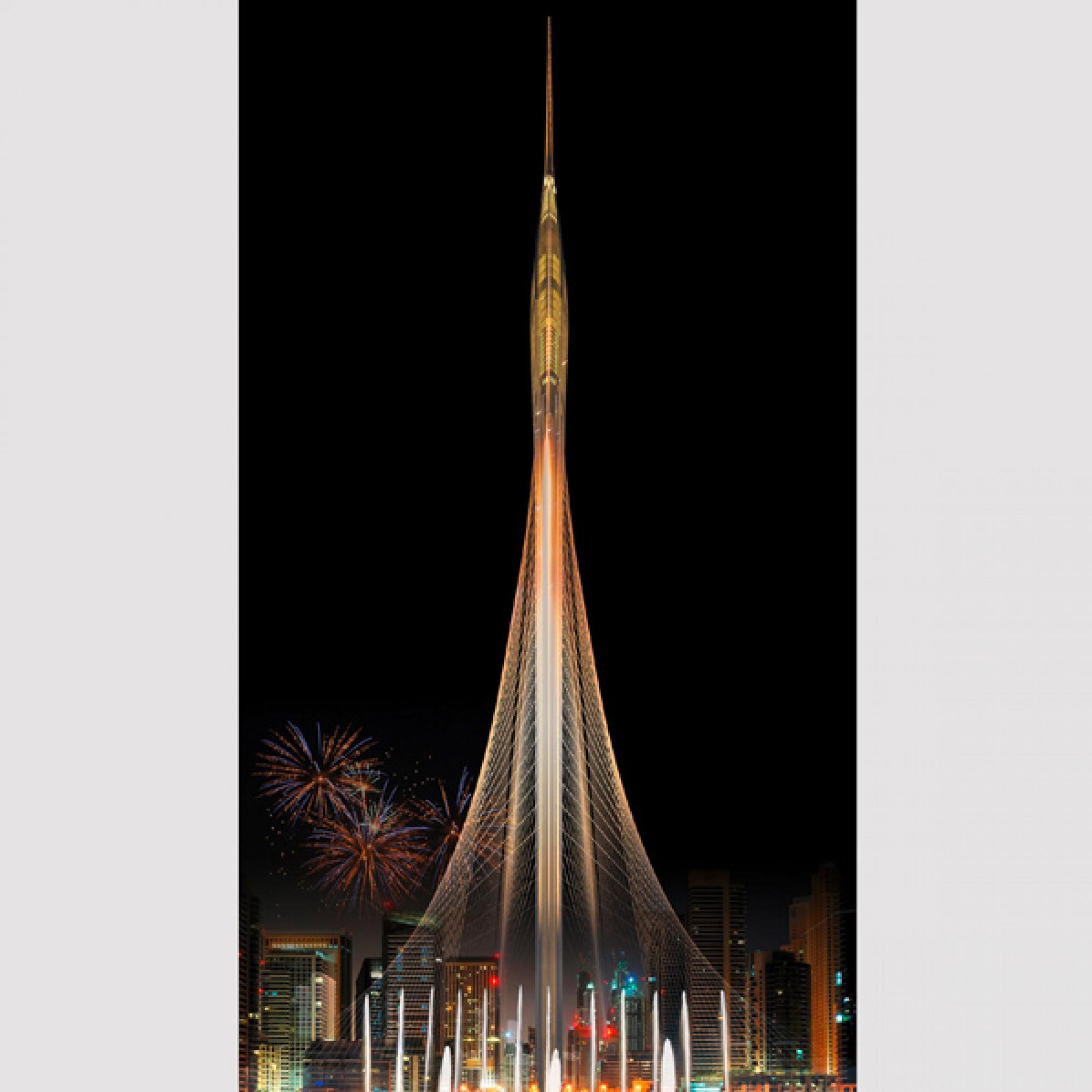 Eine elegante Nadel: So soll Dubais neuer Aussichtsturm aussehen. (zvg)