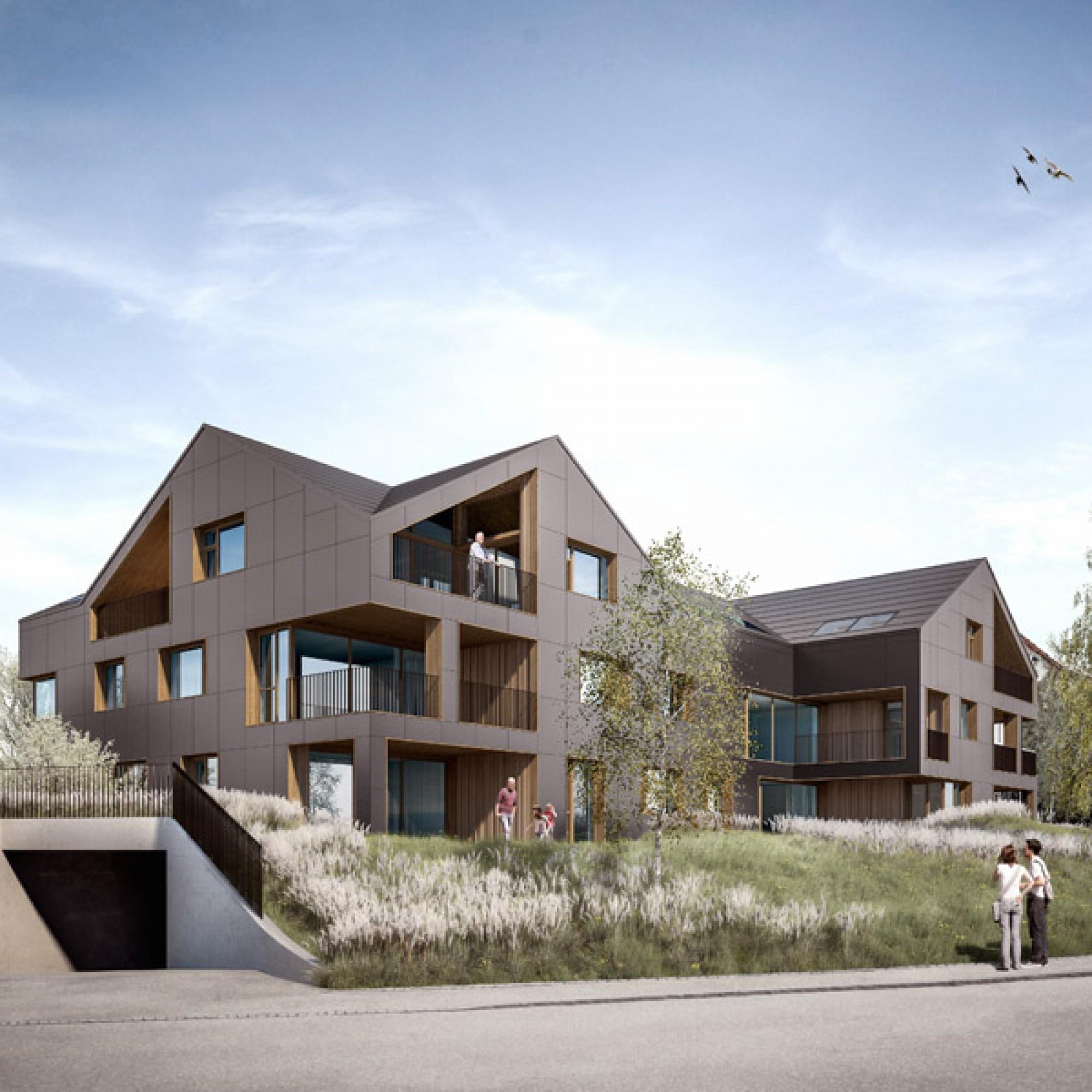 So wird das energieautarke Mehrfamilienhaus aussehen. Von aussen...
