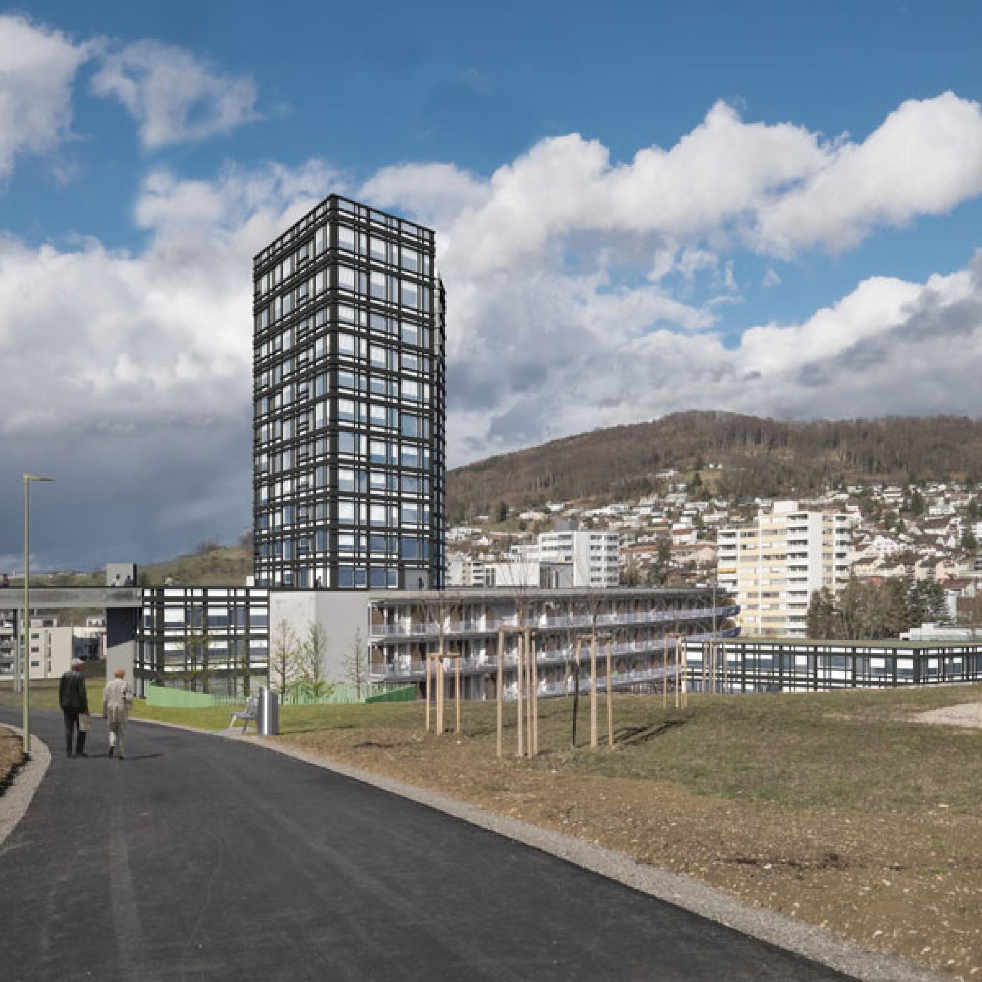 Visualisierung des Neubaus (Draft-Garden, SZ Schönthal)