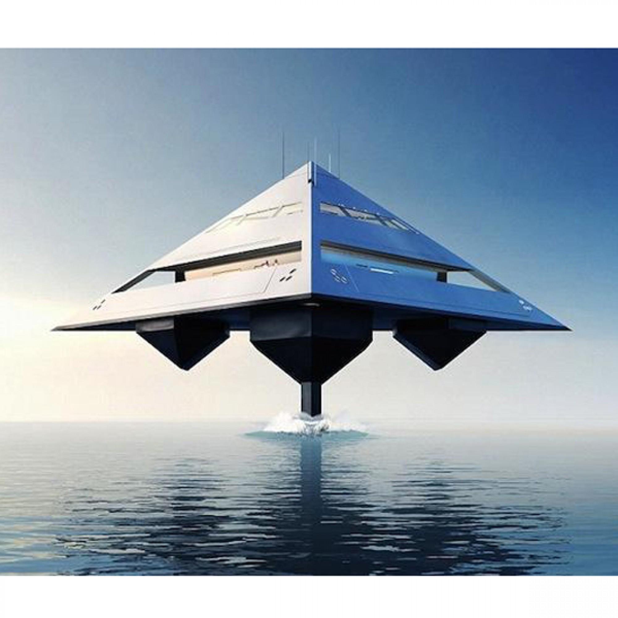 Die Tetrahedron Superyacht (Bilder: Schwinge/Eyelevel)