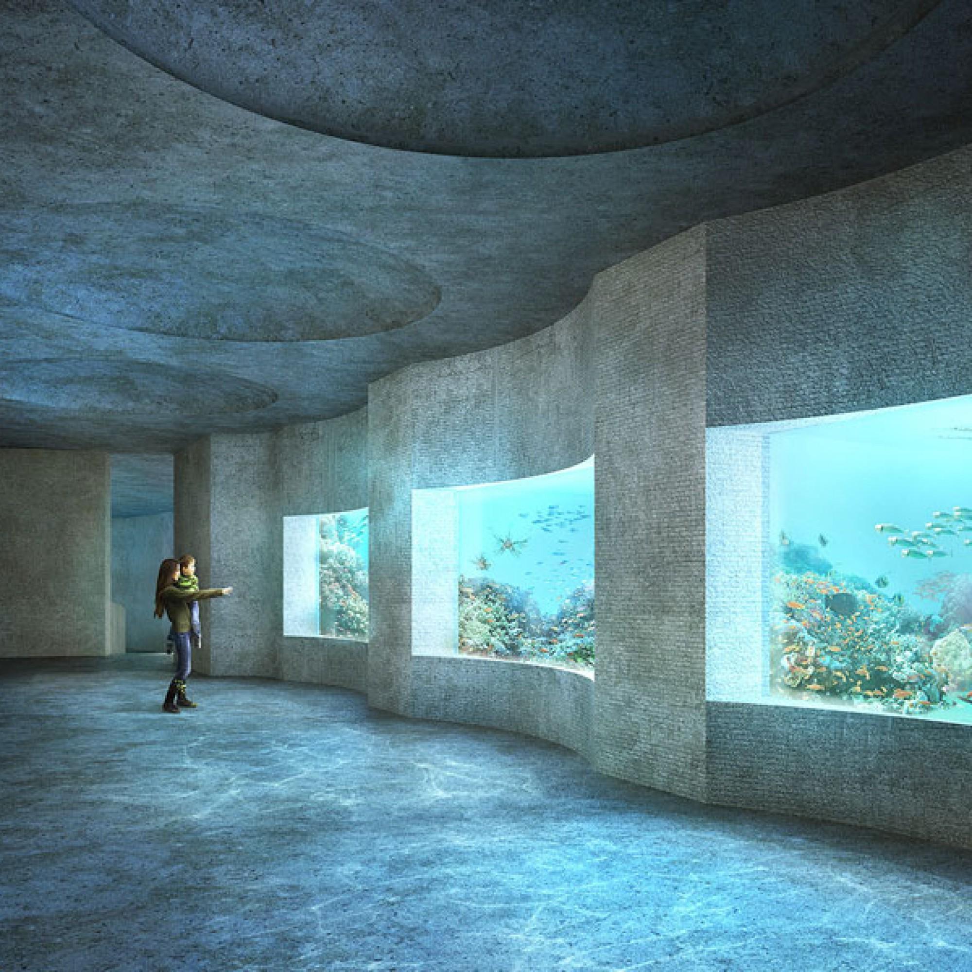 """Projekt """"Seacliff"""": Das neue Ozeanium an der Heuwaage in Basel wurde von den Boltshauser Architekten aus Zürich entworfen (Zoo Basel)"""