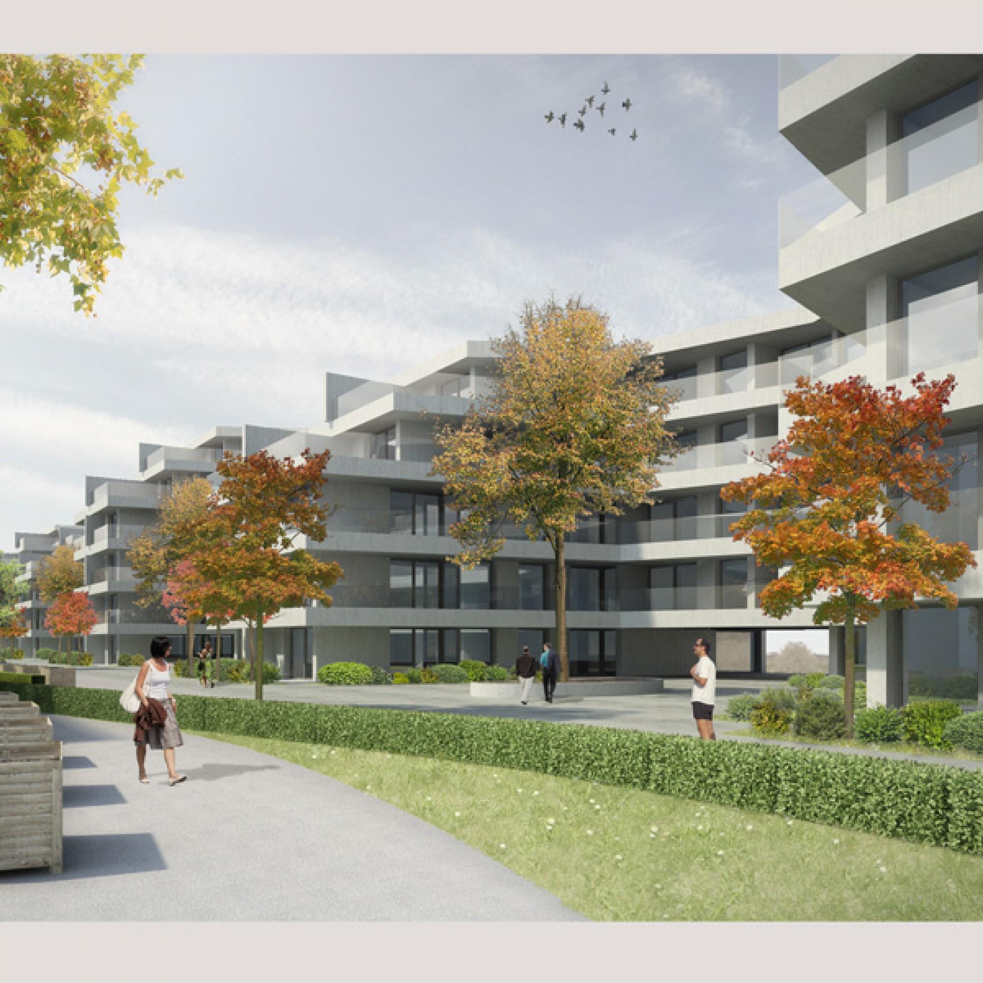 Das Bauprojekt (Visualisierung obs/Allianz Suisse)