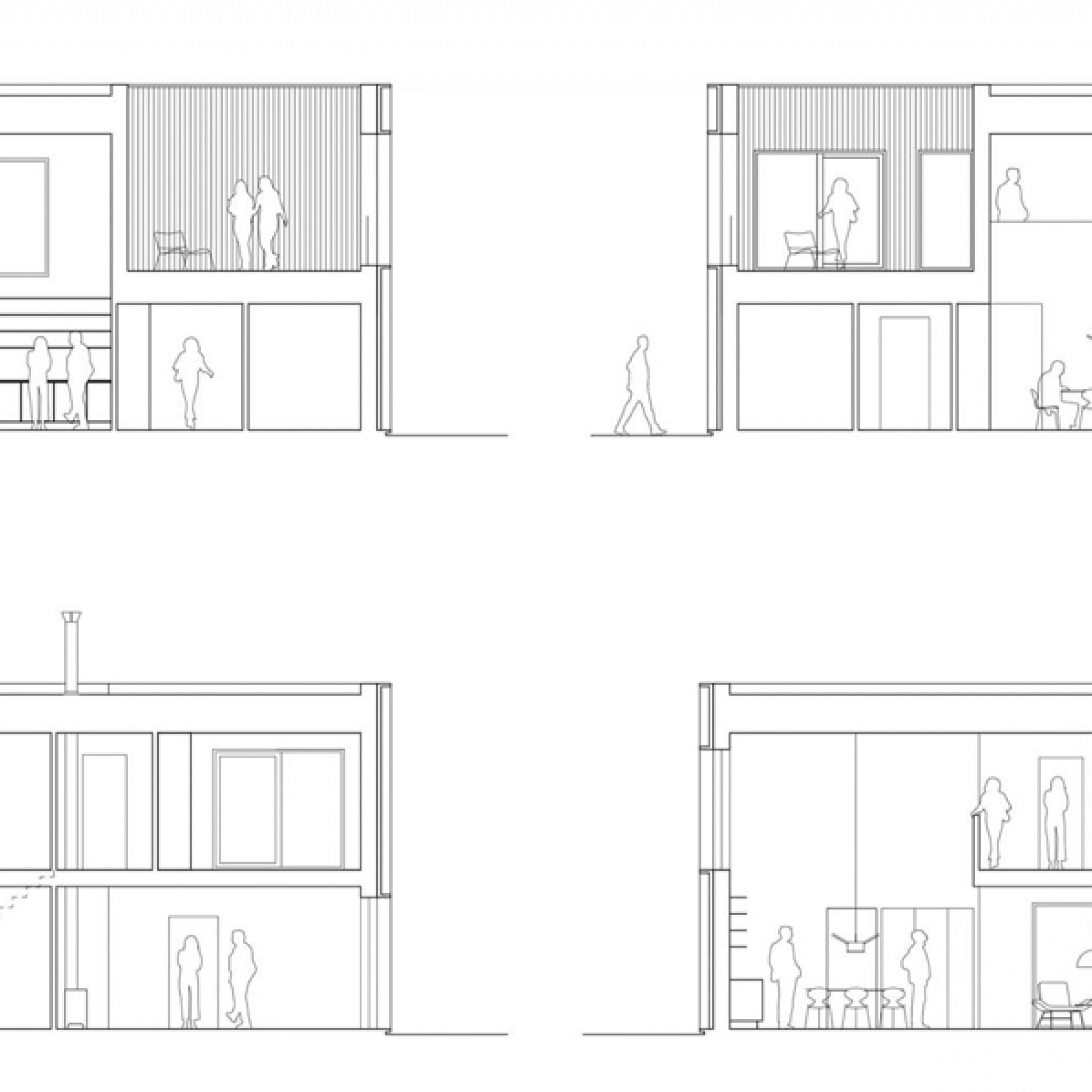 Die hundert Quadratmeter Wohnfläche verteilen sich über zwei Stöcke. (Tham)