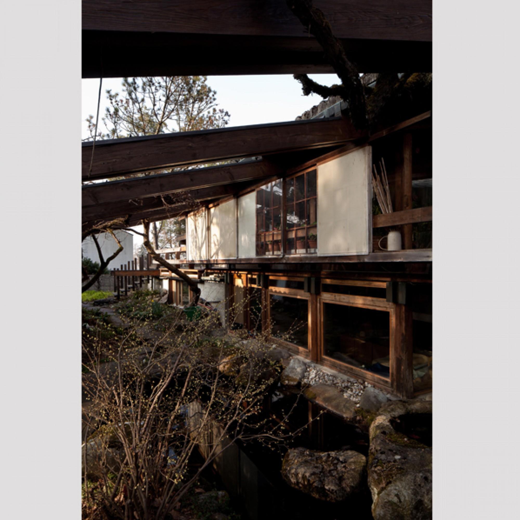 Wohn- und Atelierhaus in Gockhausen ZH, 1957-59, Erweiterung 1962-64  (Christian Kahl, 2016 / SAM)