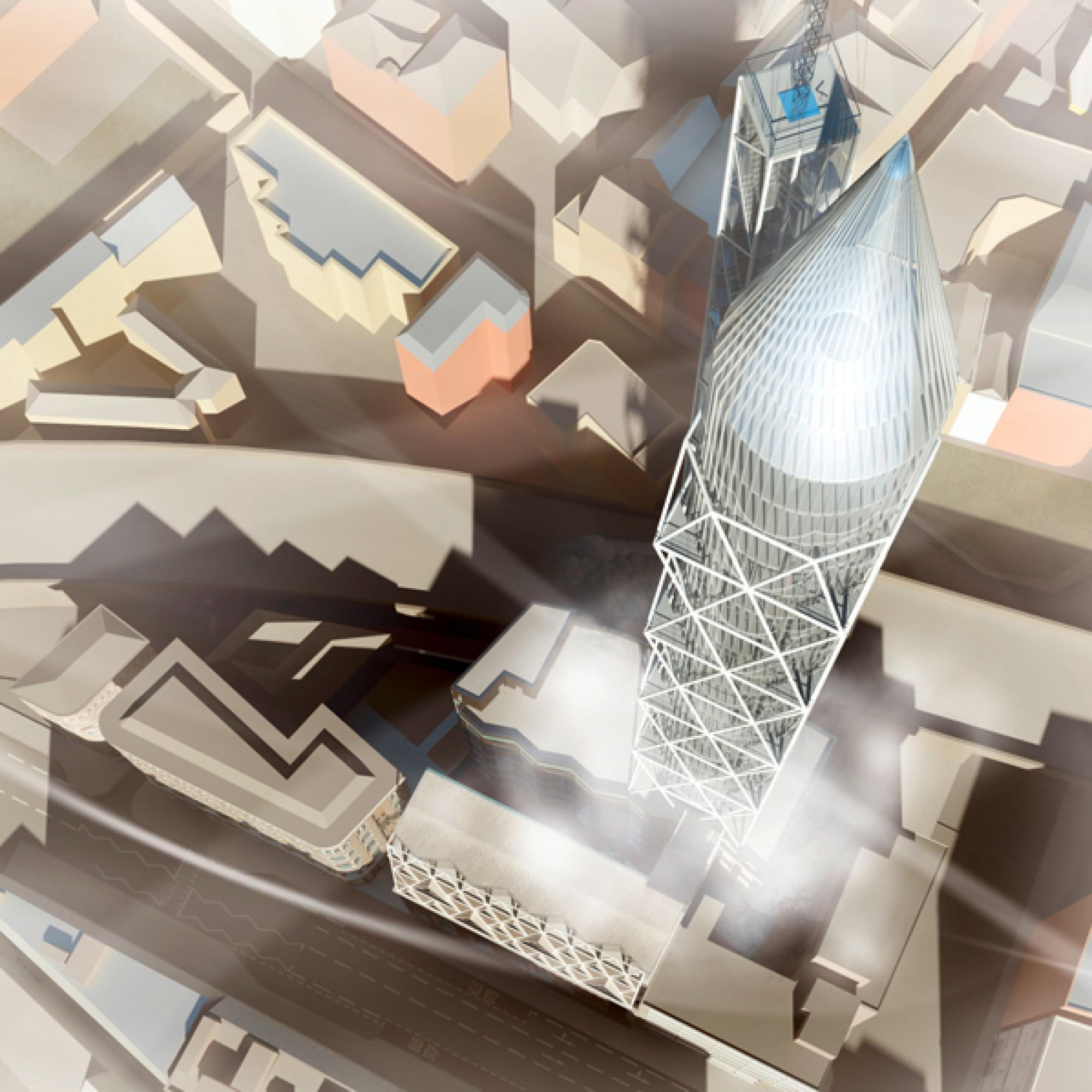 Ein Komplex wie ein Raketenstartgelände? Der Juri-Gagarin-Turm und seine Umgebung. (zvg) 1/5