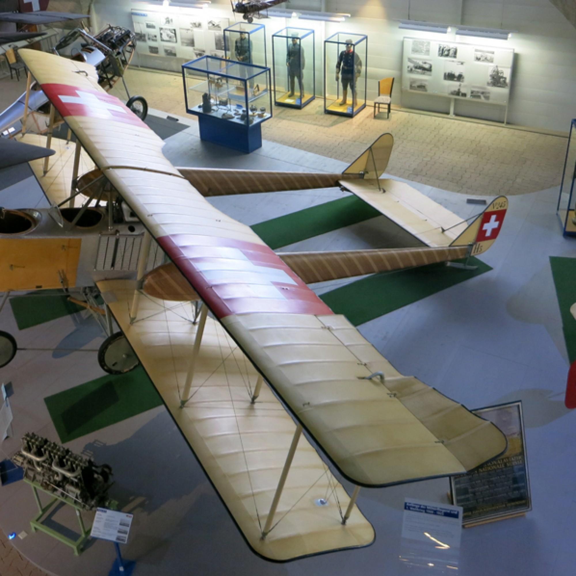 Der Nachbau der Haefeli von 1915/16 im Flieger-Flab-Museum. (Paebi, CC-BY-SA 4.0, Wikimedia)