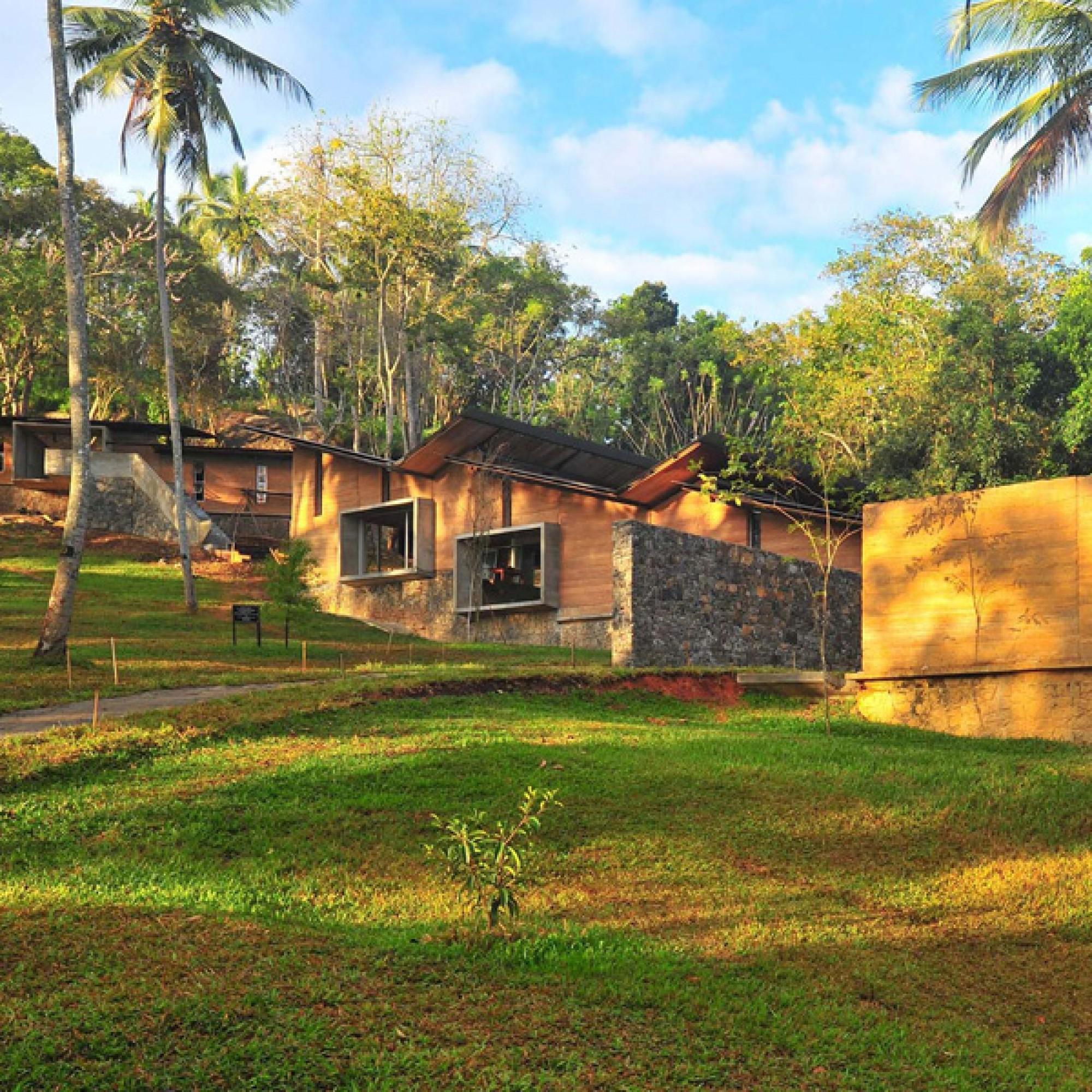 Ambepussa-Bibliothek in Sri Lanka.