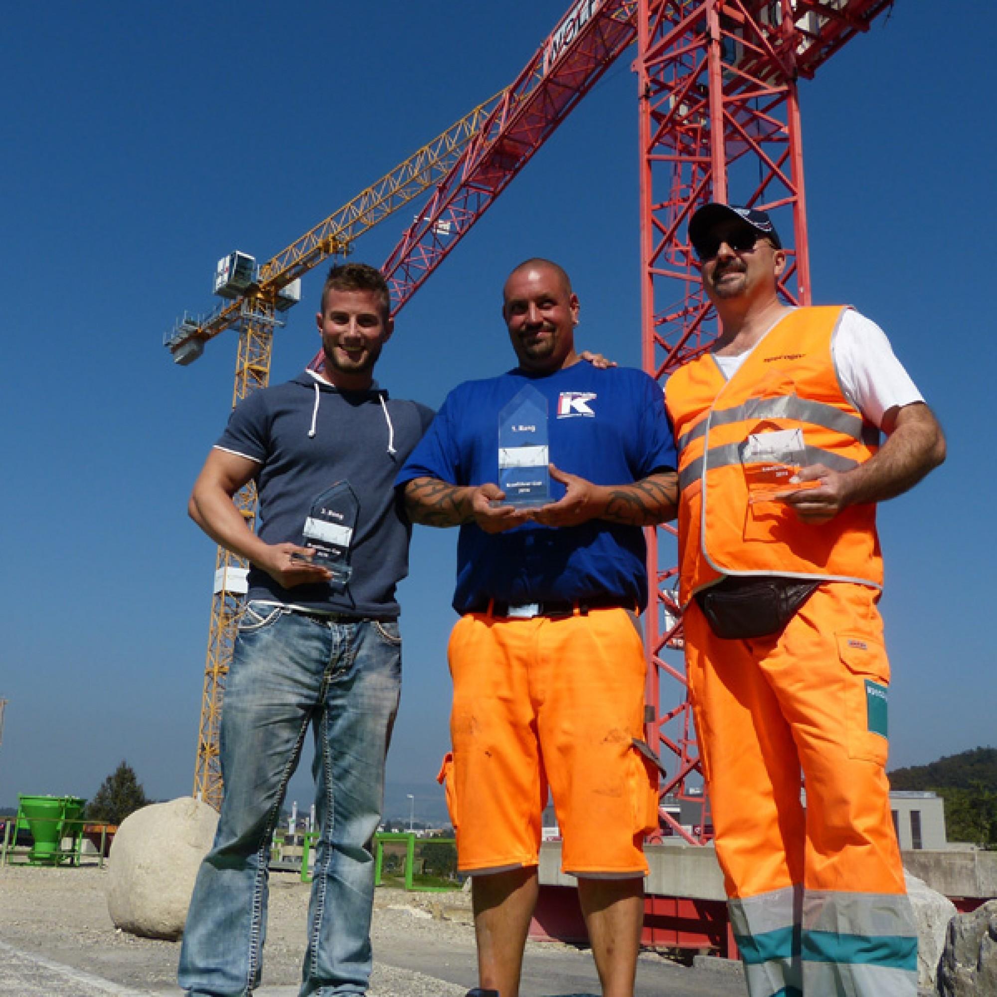 Die Bestplatzierten (v.l.): Martin Weibel (Platz 3), Thierry Oswald (Platz 1) und Enrico De Blasio (Platz 2). (Bilder zvg)