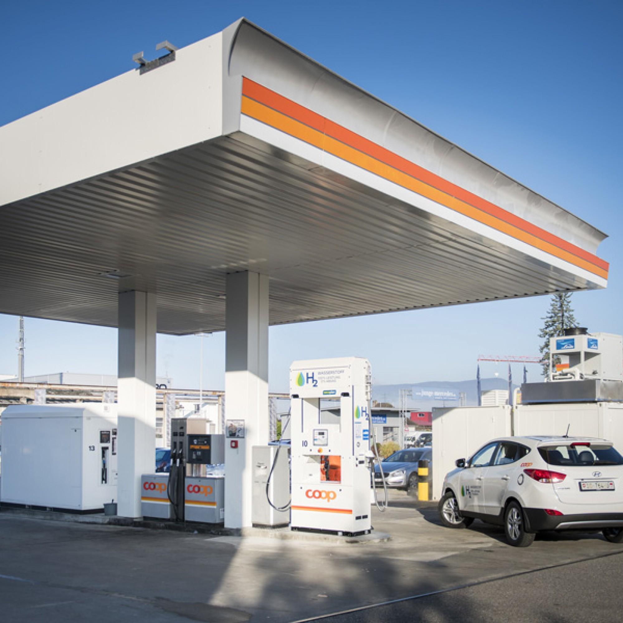 Wasserstofftankstelle in Hunzenschwil AG (Christoph Kaminski)