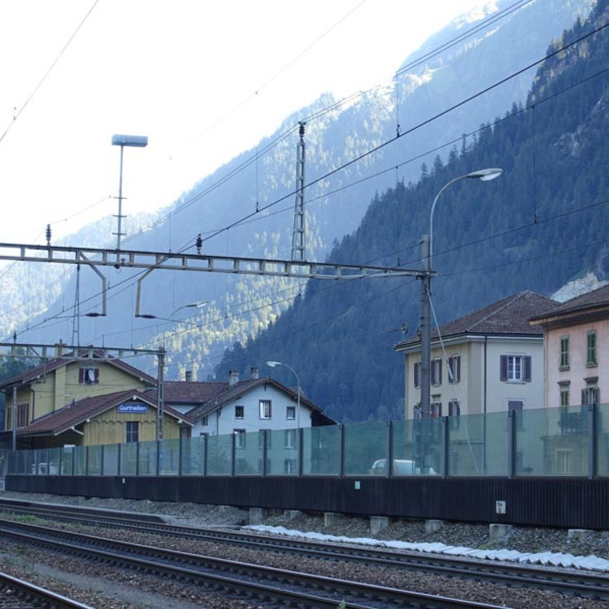 Der Bahnhof von Gurtnellen.