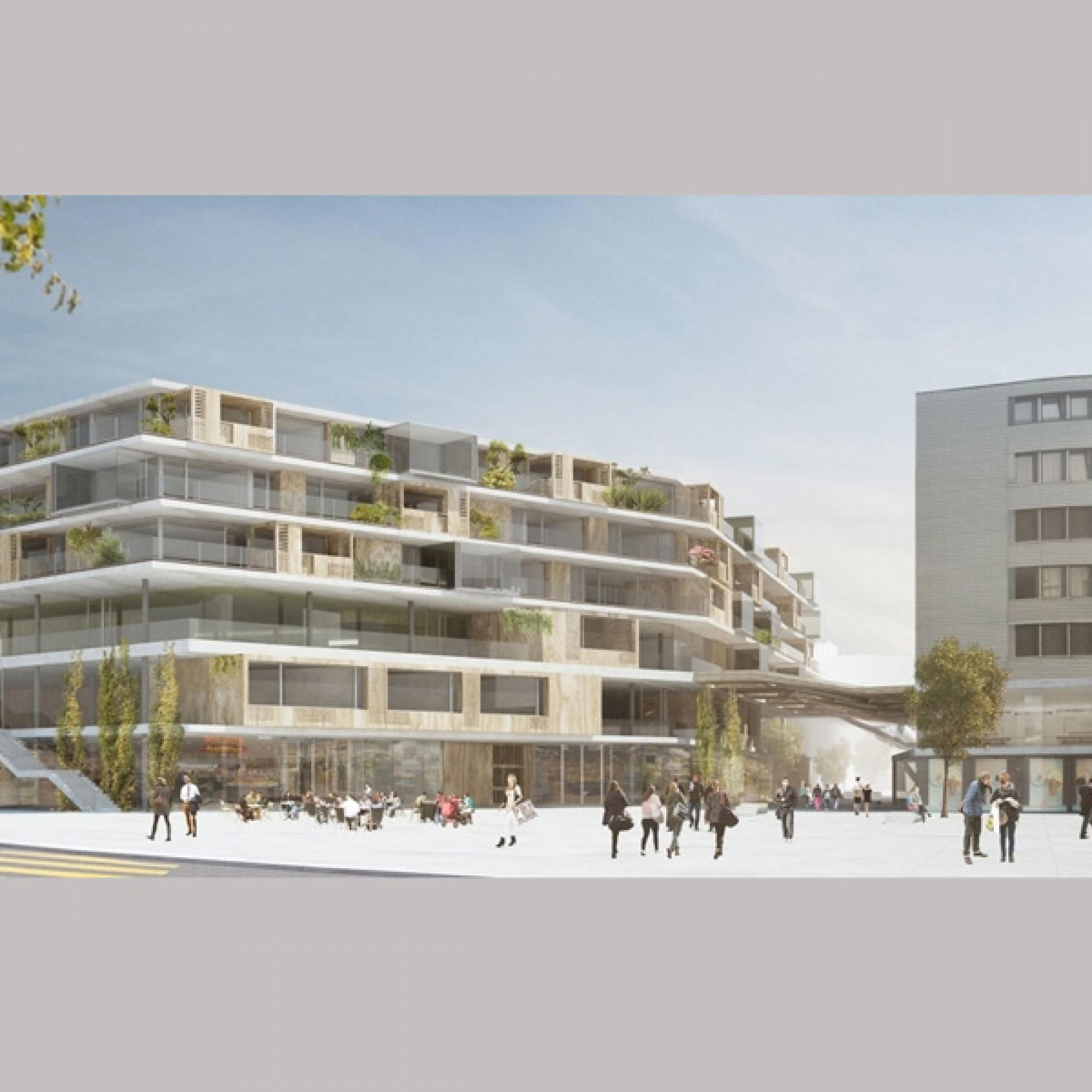 In Zukunft soll das Areal ein urbanes Einkaufs- und Begegnungszentrum sein.