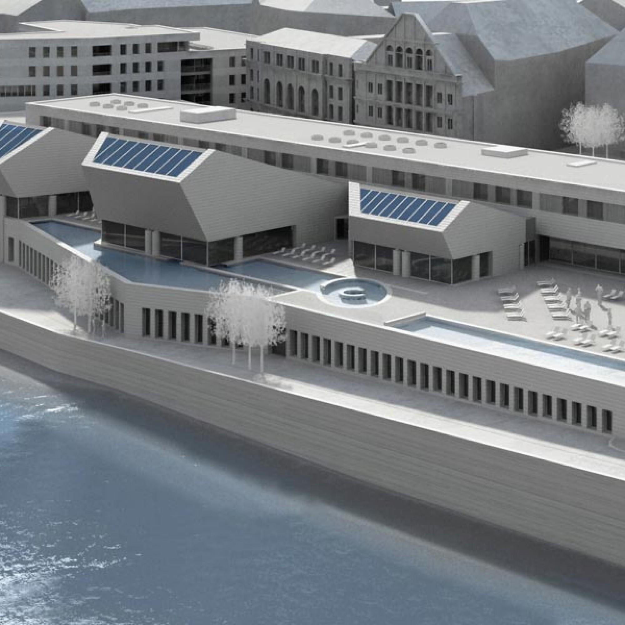 Neben dem Bau des neuen Thermalbades ist ein Wohn- und Ärztehauses geplant.