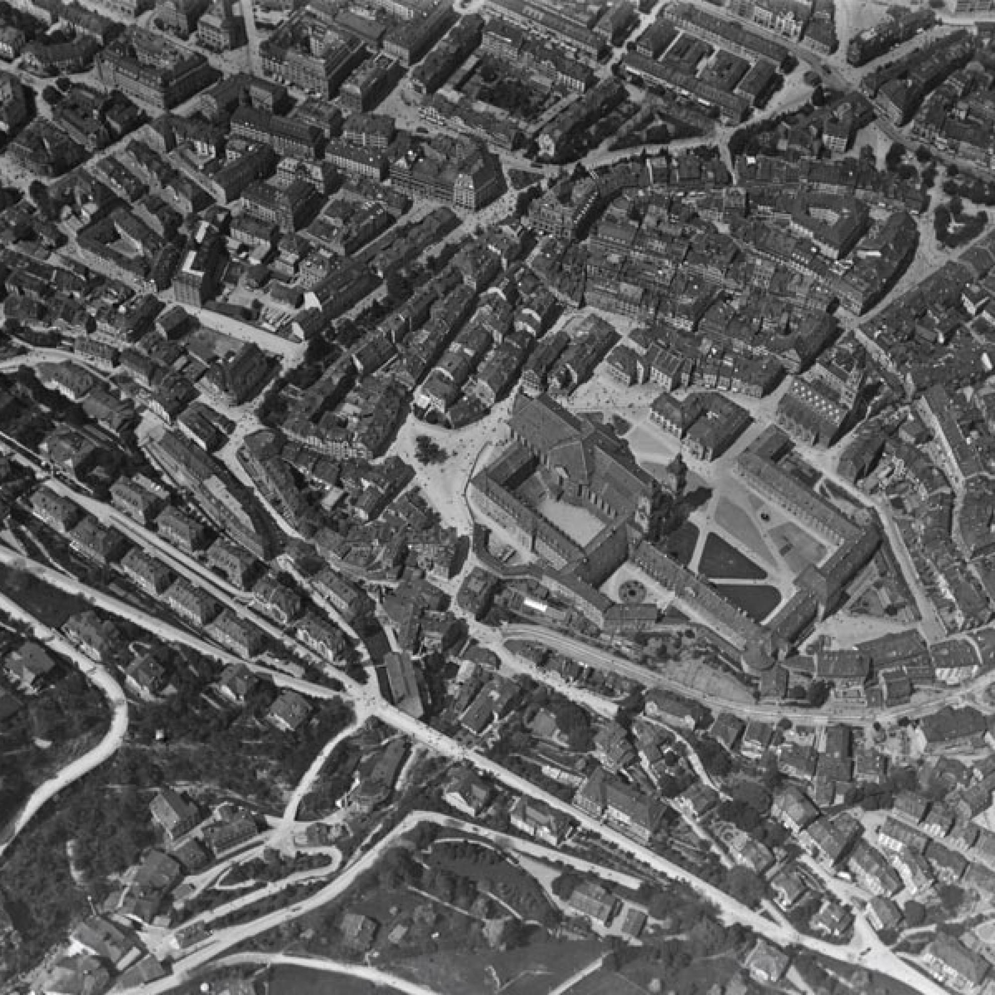 Historische Aufnahme des Klosterbezirks von St. Gallen .  (Bild: gemeinfrei)