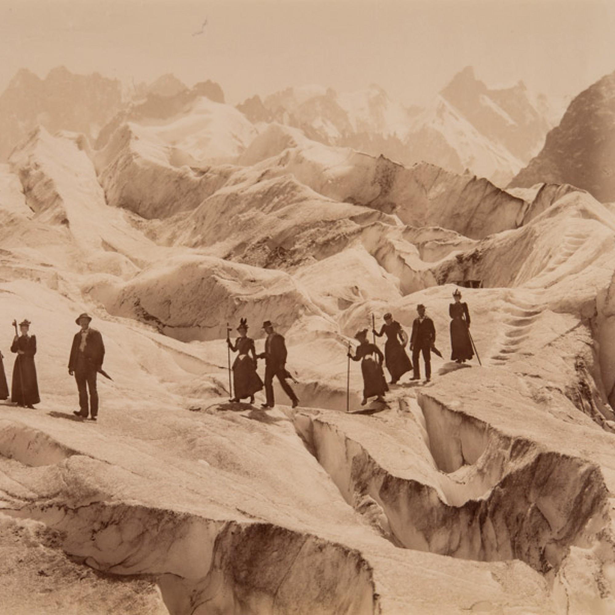 John Jullien,  Überquerung des Eismeers , um 1880. (Musée de l'Elysée, Lausanne)