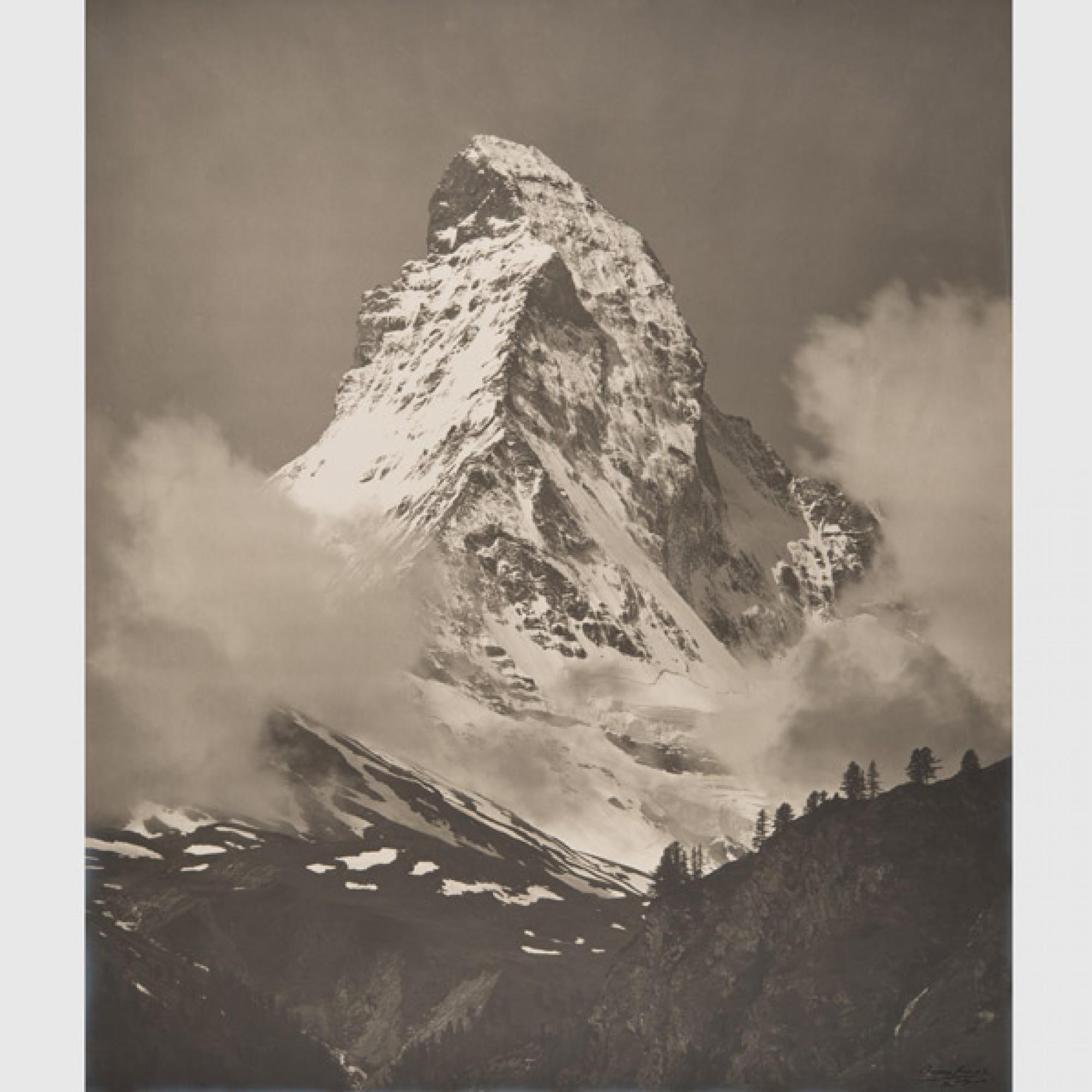 Charles Charnaux,  Das Matterhorn , 1910-1920. (Musée de l'Elysée, Lausanne. Sammlung des Musée d'Elysée)