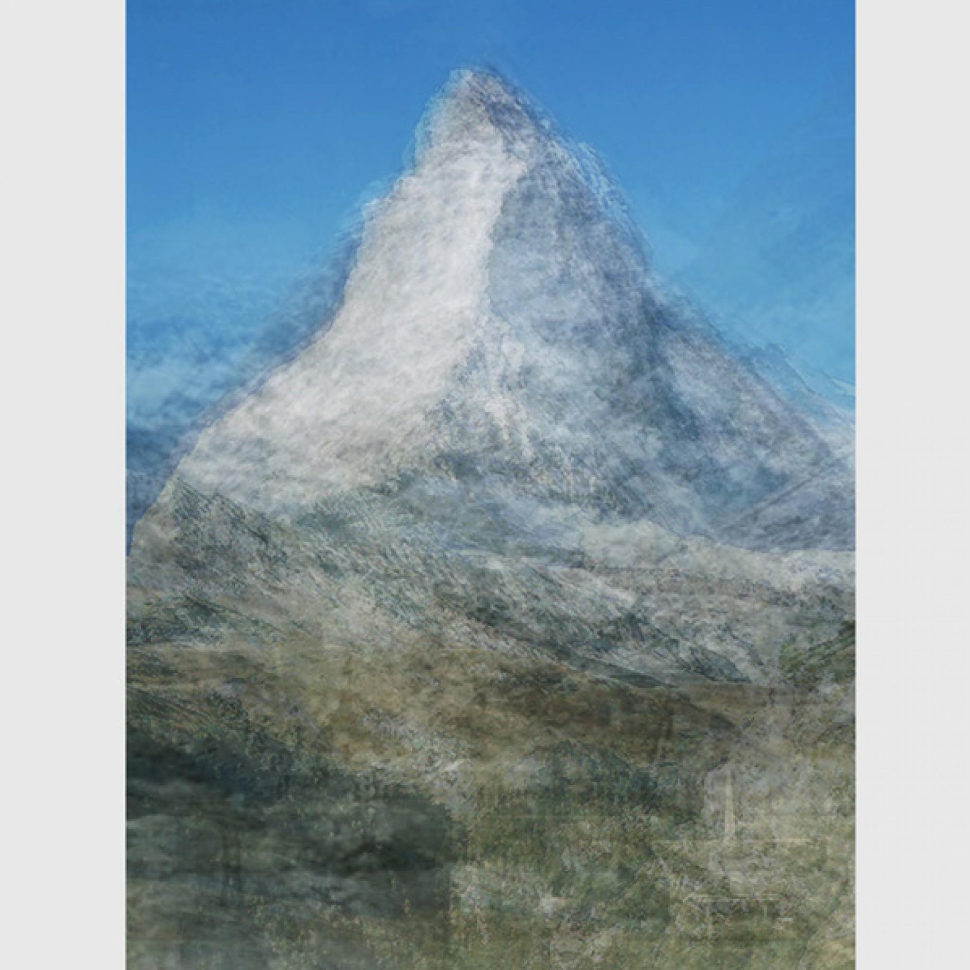 Corinne Vionnet,  Matterhorn , aus der Serie  Photo Opportunities , 2006 . (Corinne Vionnet, Sammlung des Musée de l'Elysée)