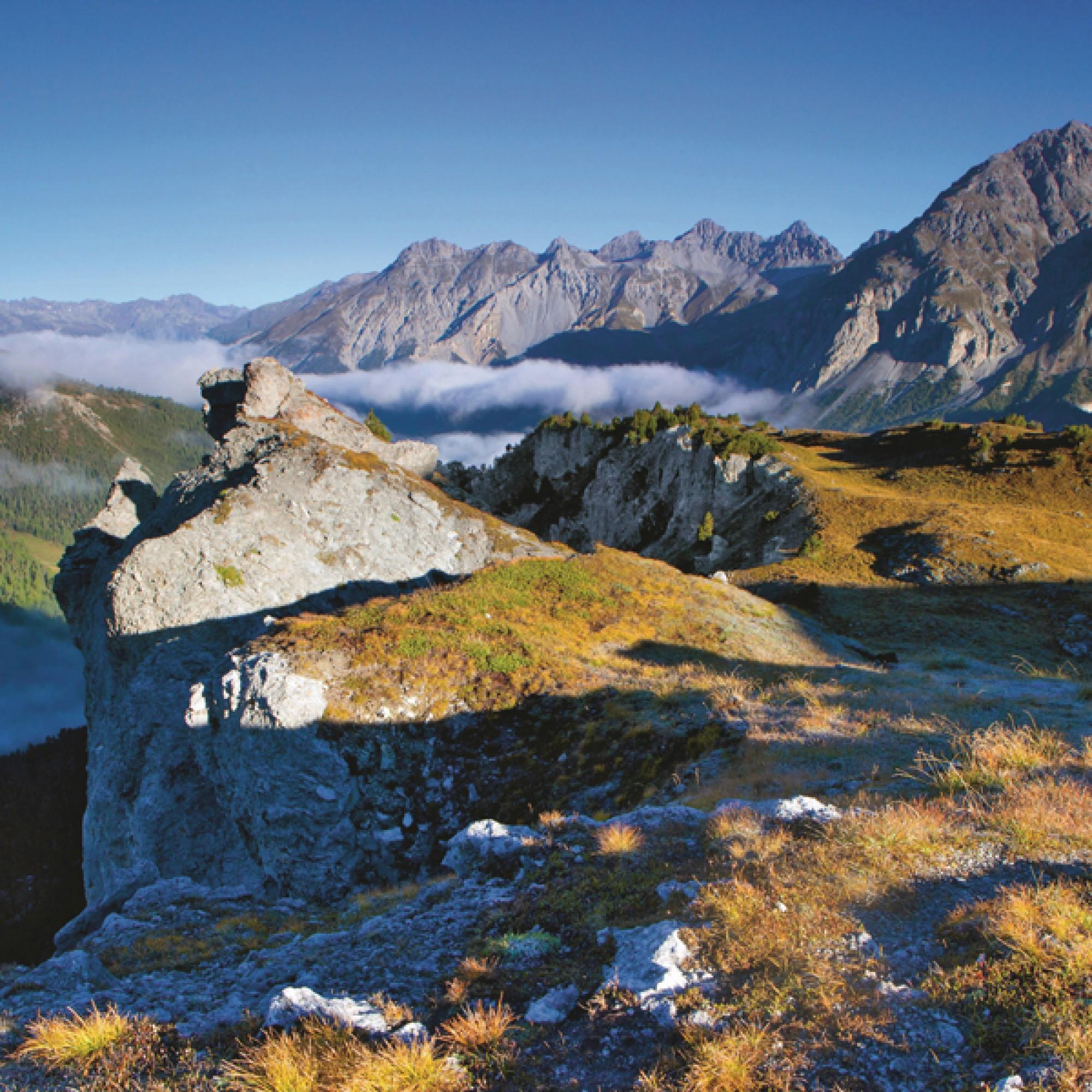 Panorama im Schweizerischen Nationalpark (Bild: Schweiz Tourismus, Bafu)