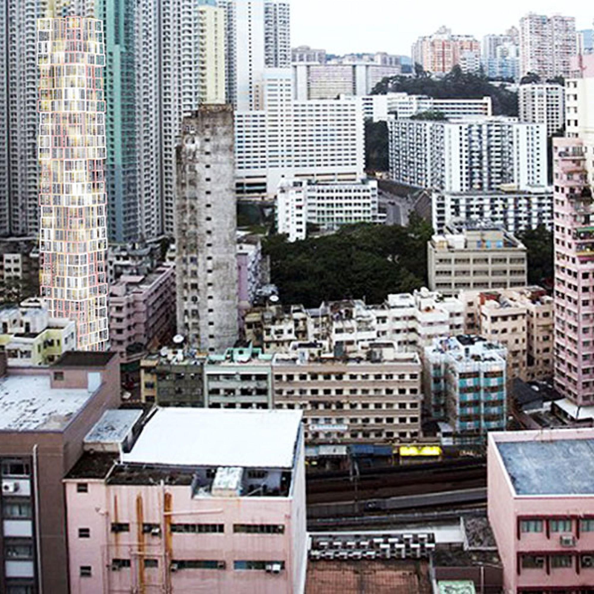 ...inmitten des Turmdickichts Hongkongs.  (Visualisierung (Kwong Von Glinow / beebreeders.com)