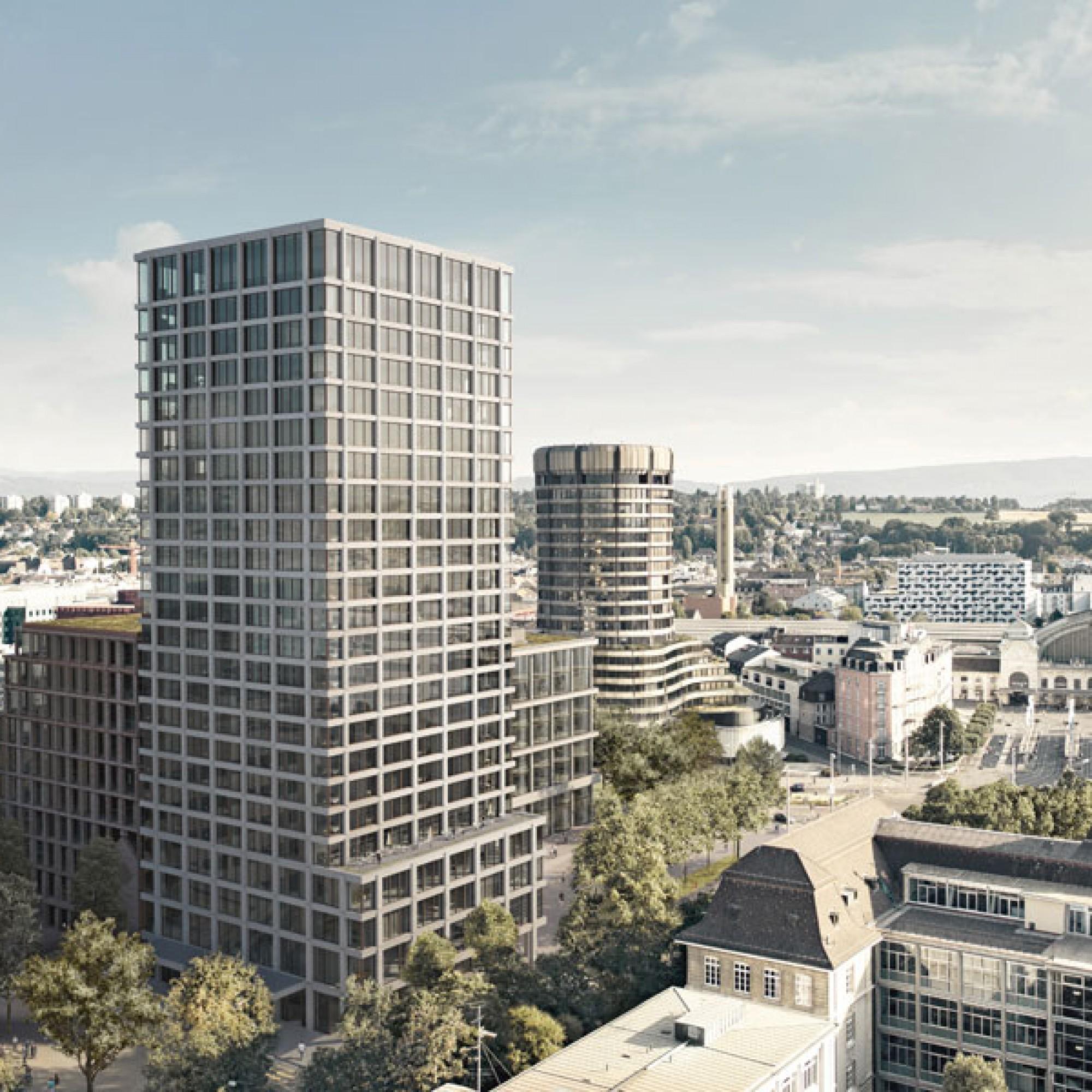 Der Baloise-Park beim Basler Bahnhof SBB soll 2020 eröffnet werden (Visualisierung zvg)