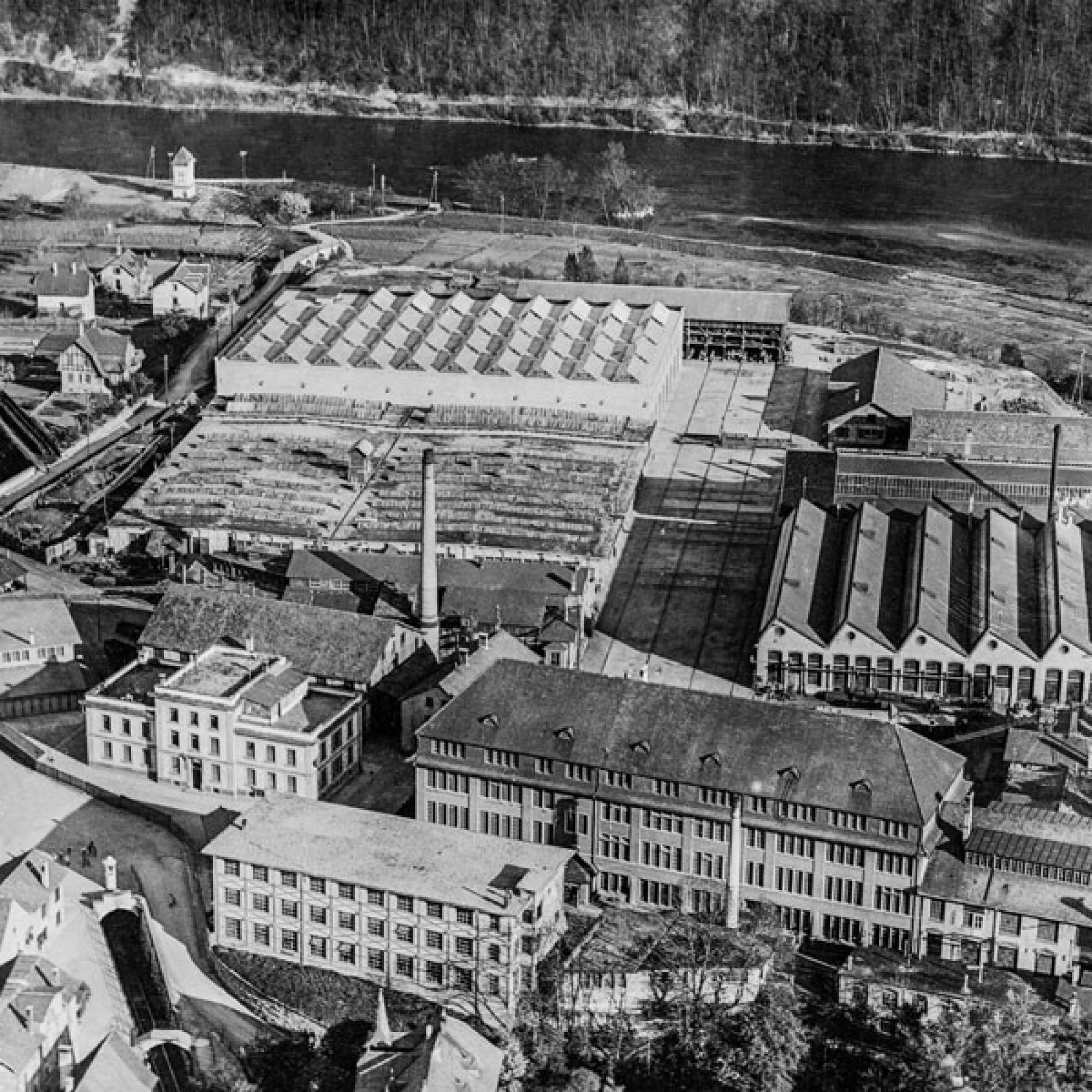 Das SIG Areal Neuhausen zwischen 1918 und 1937.