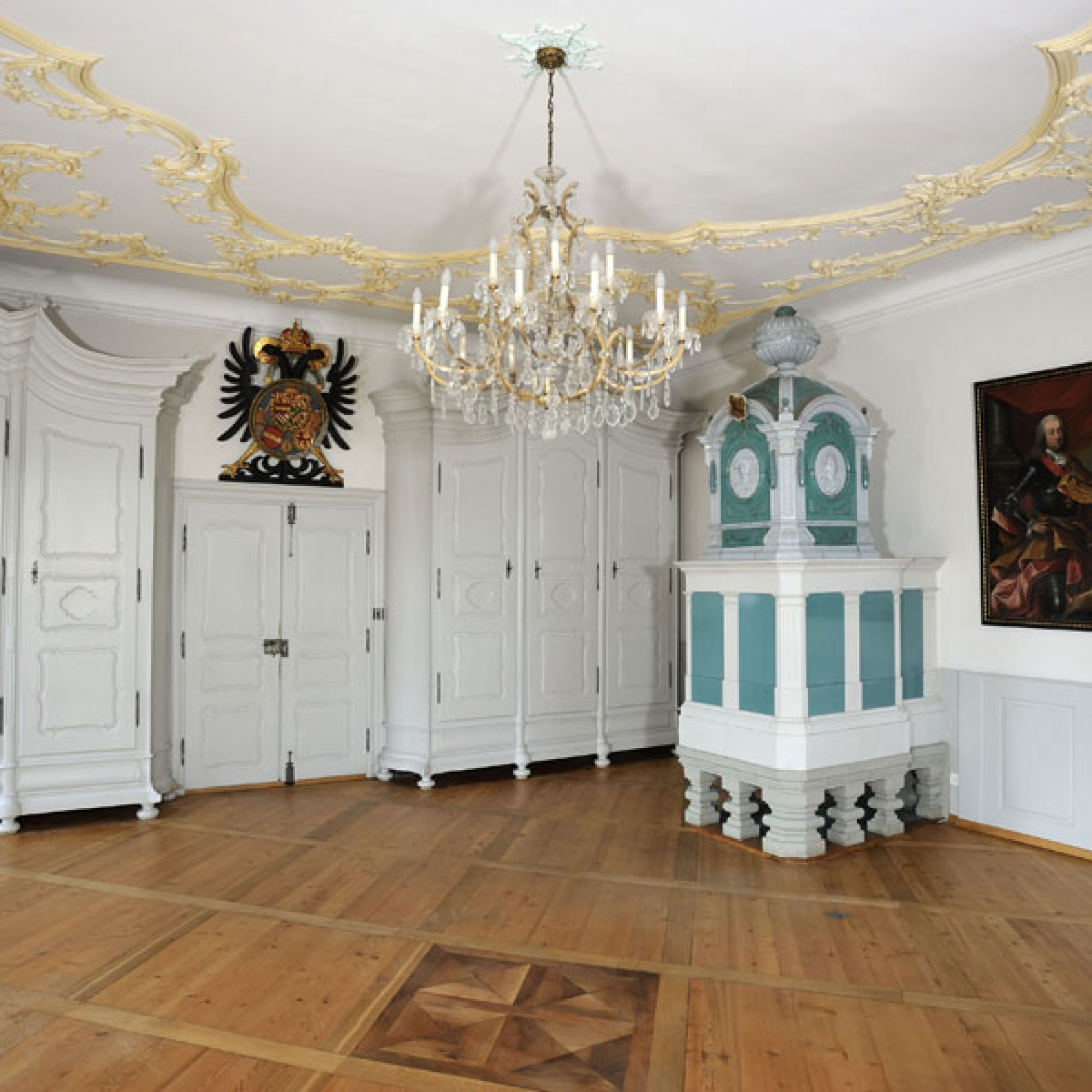 Barocke Pracht im ehemaligen Rathaus Laufenburg AG. (Bild: © Kantonale Denkmalpflege Aargau, Christine Seiler)