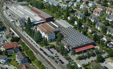 Luftbild Werk Hedingen.