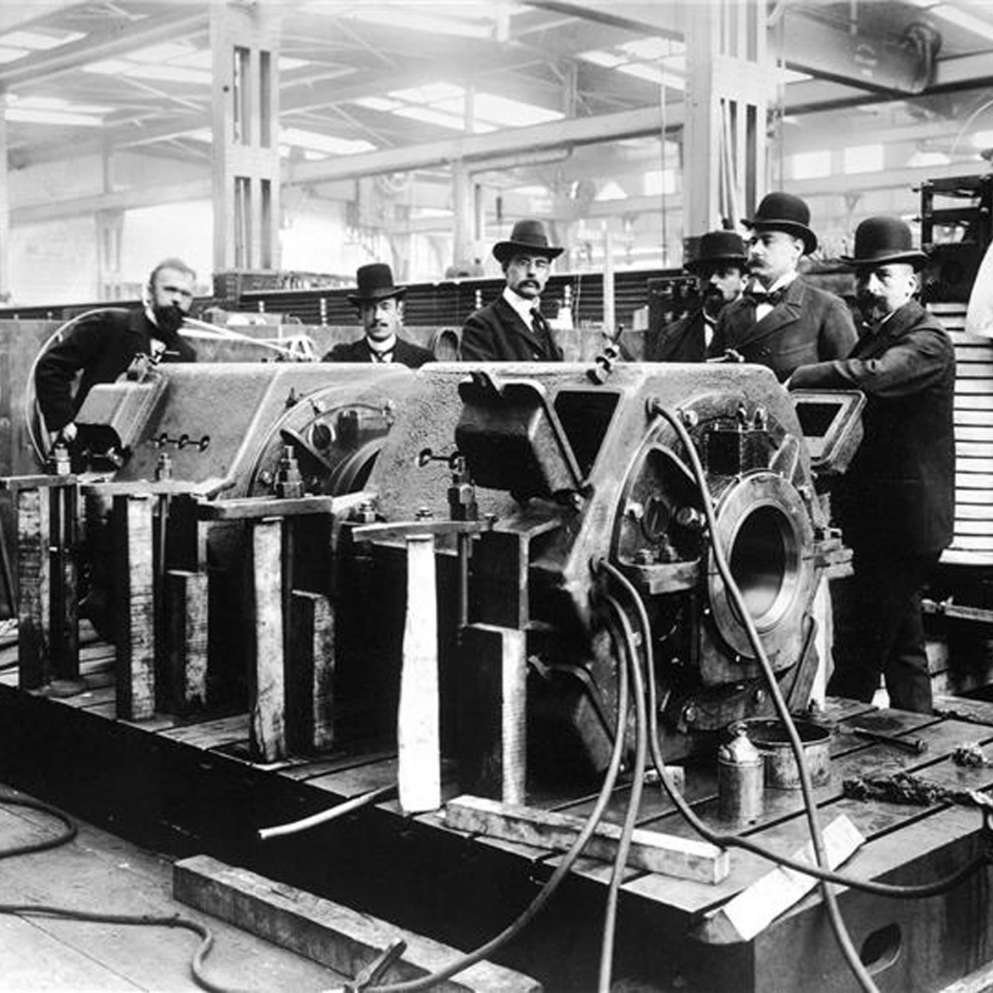 ABB: Prüfstand für Lokomotiv-Motoren, 1895.