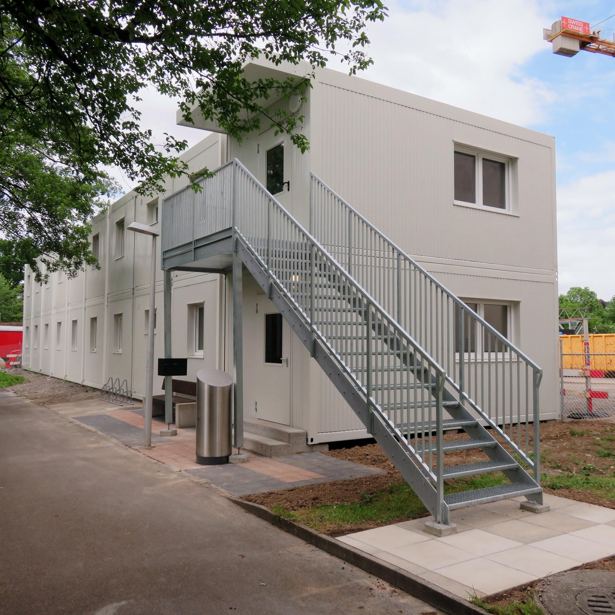Asylunterkunft in Wallisellen ZH, gebaut von Condecta