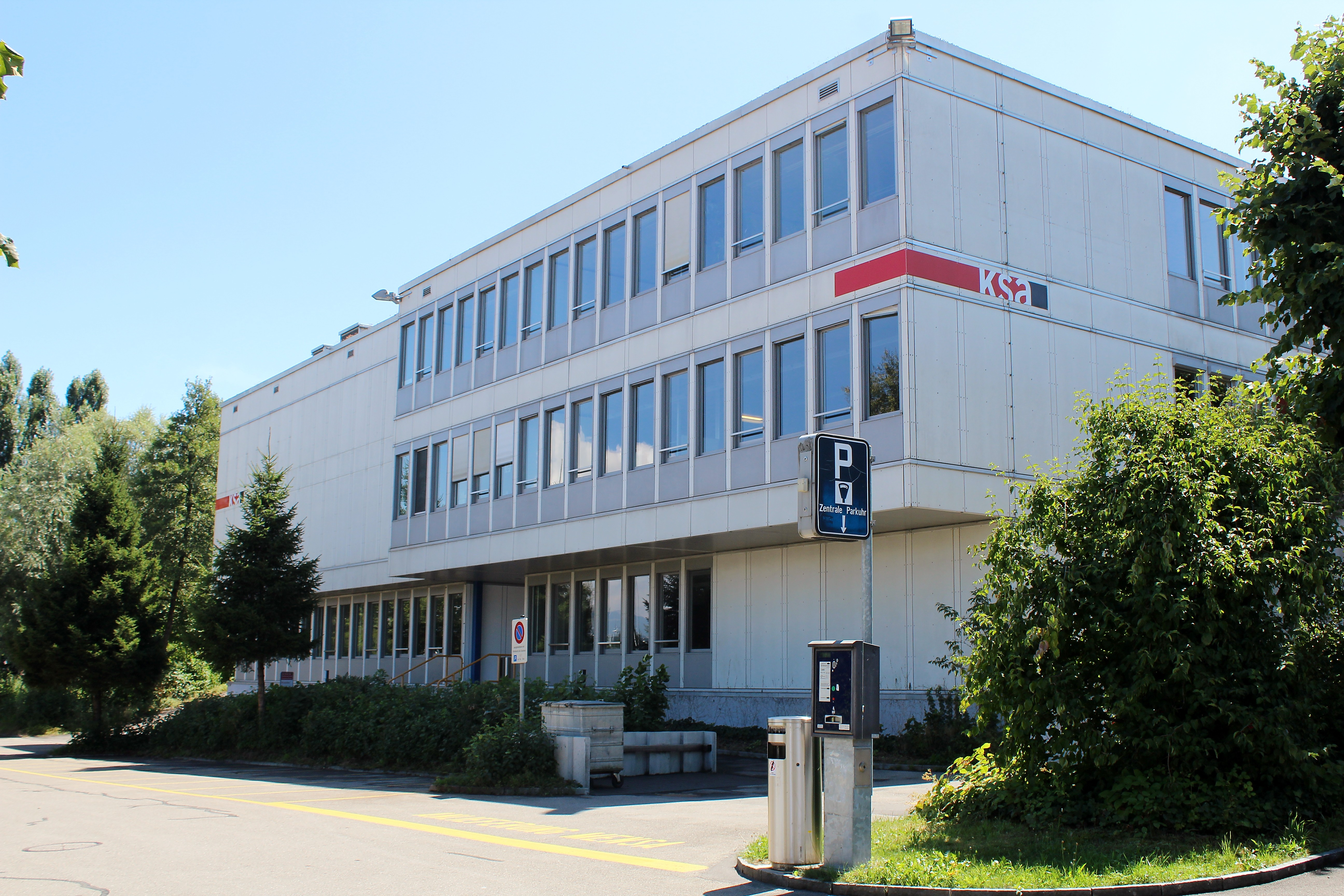 So sieht die Kantonsschule Ausserschwyz heute aus.