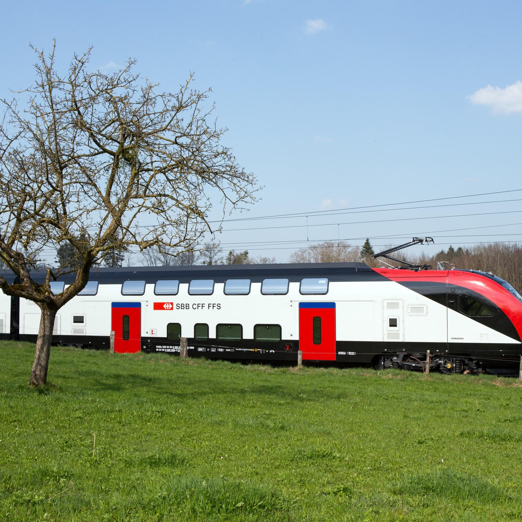 Zwischen St. Gallen und Zürich wurden einige Testfahrten durchgeführt.