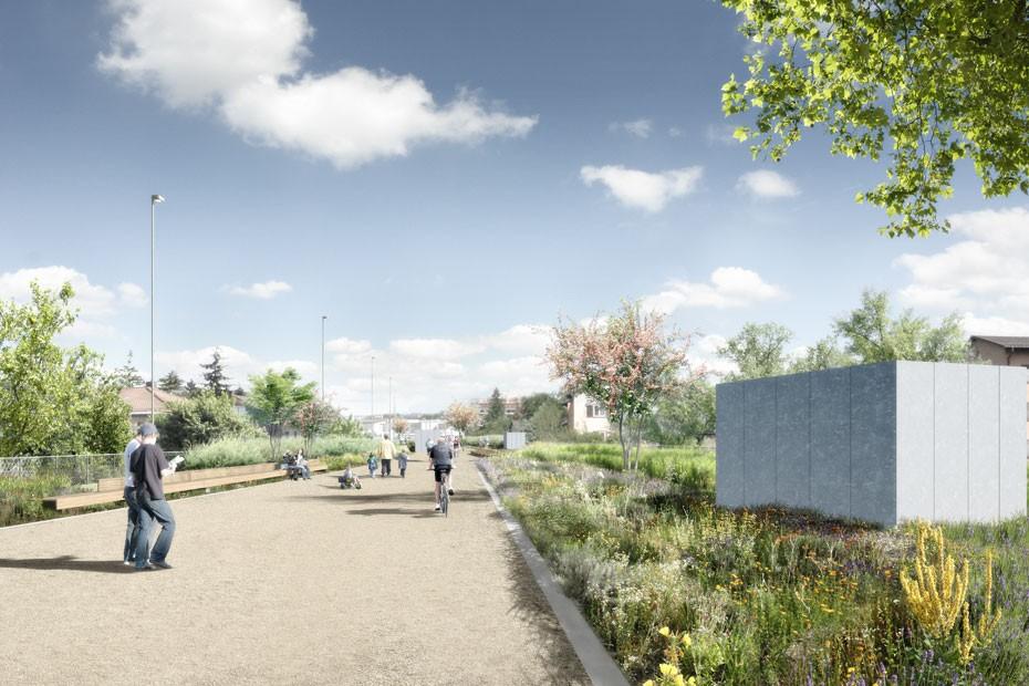 Visualisierung Park auf Einhausung Schwamendingen