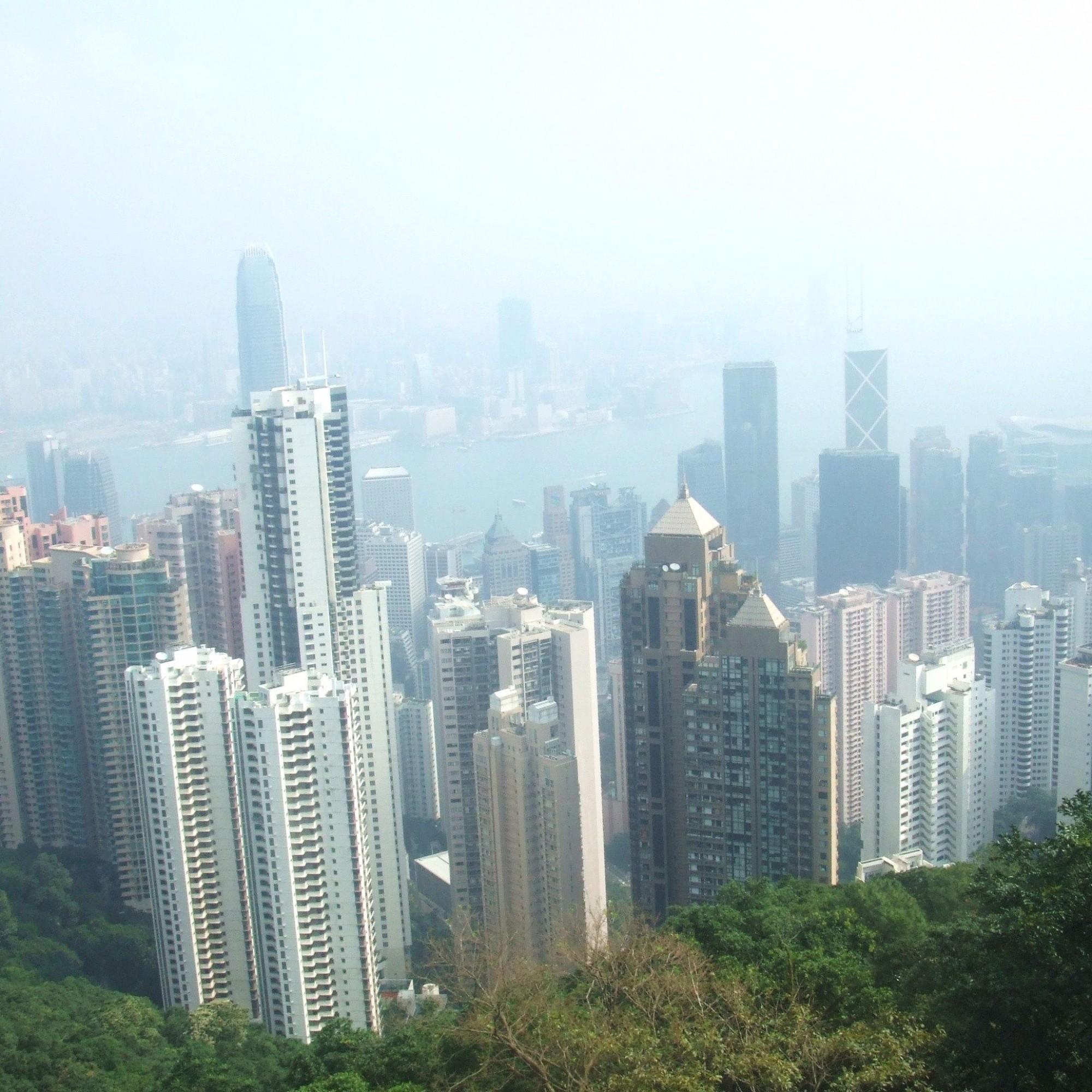 Smog in Hong Kong, Symbolbild.