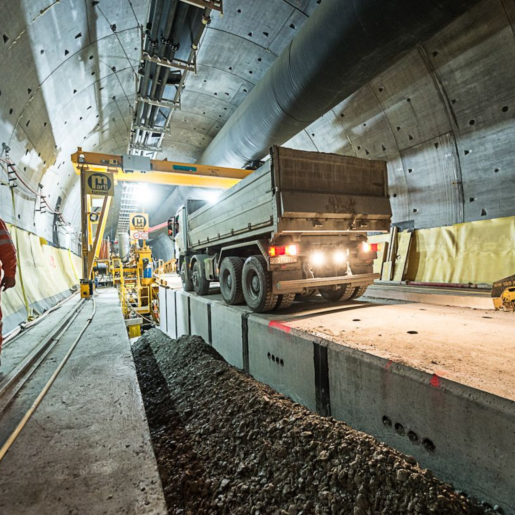 Bauarbeiten für den Belchen-Sanierungstunnel