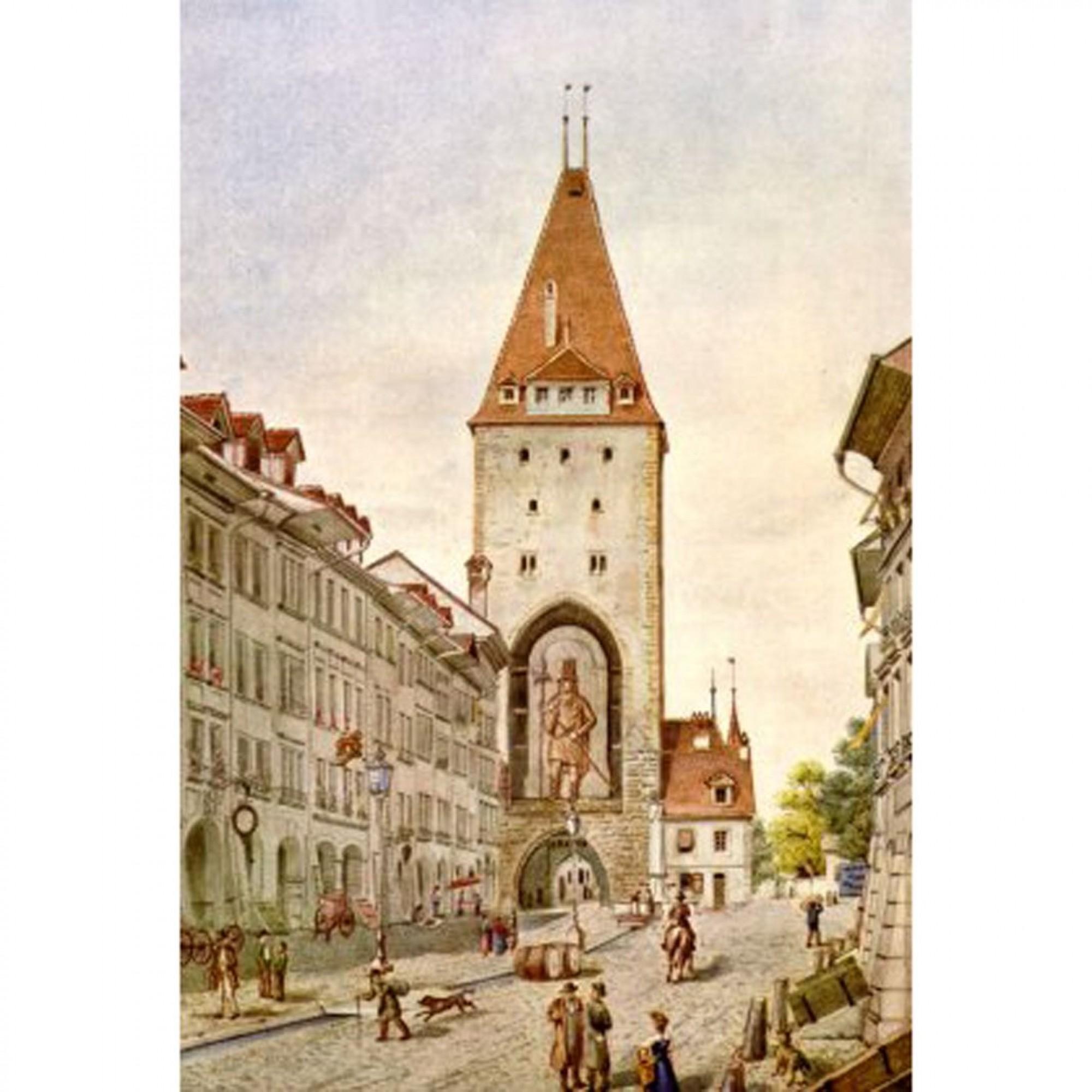 Damit sich der Bahnhof 1864 weiter ausdehnen konnte, musste der Christoffelturm...