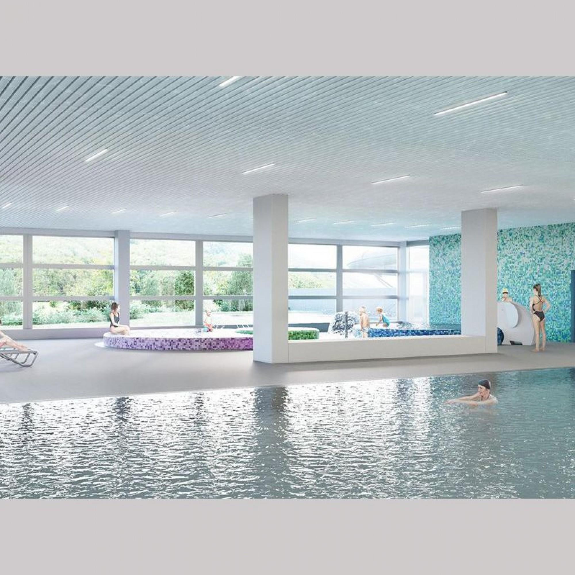 So könnte das Hallenbad der Lintharena künftig aussehen.