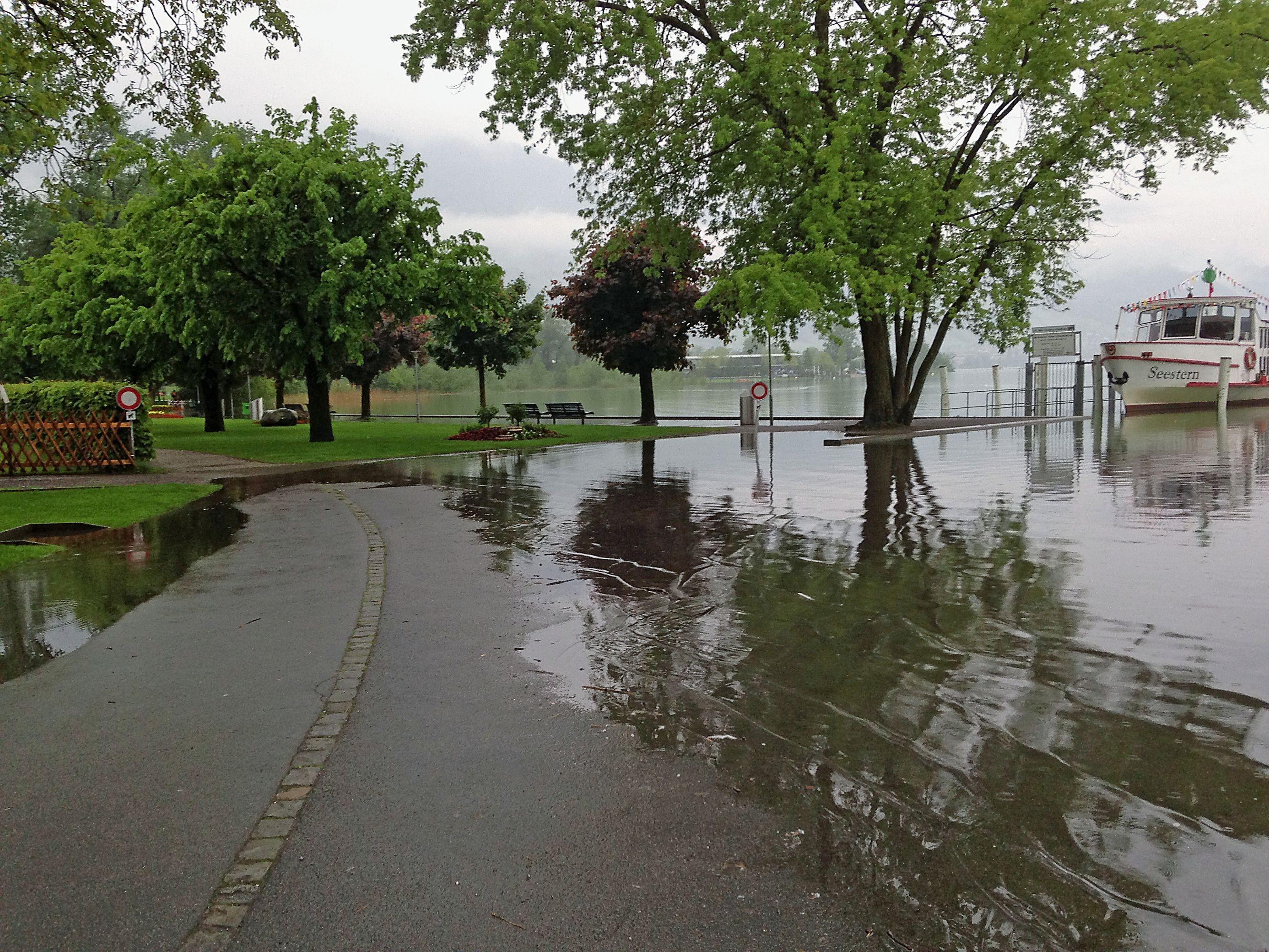 Hochwasser Sarnersee