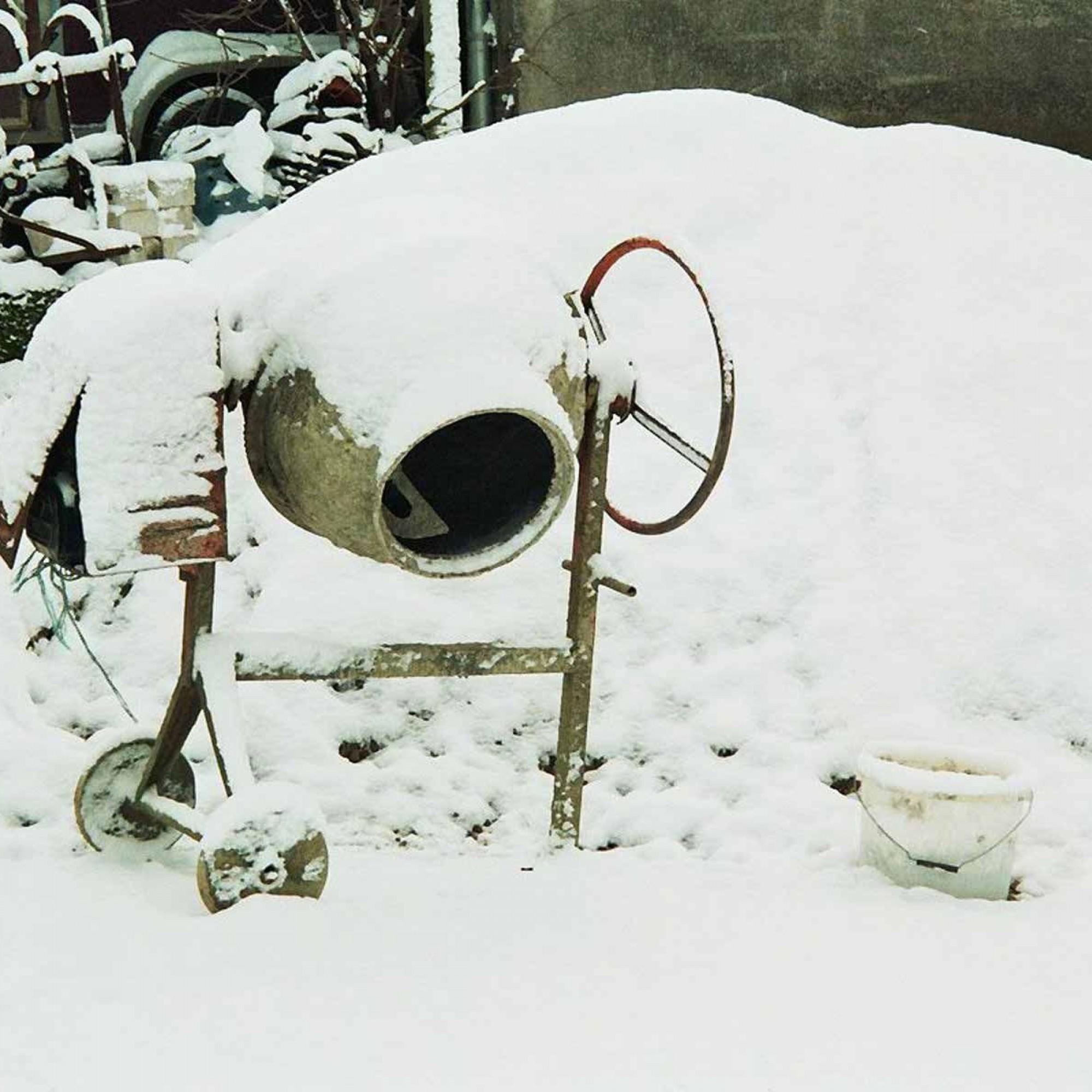 Betonmischer im Winter.