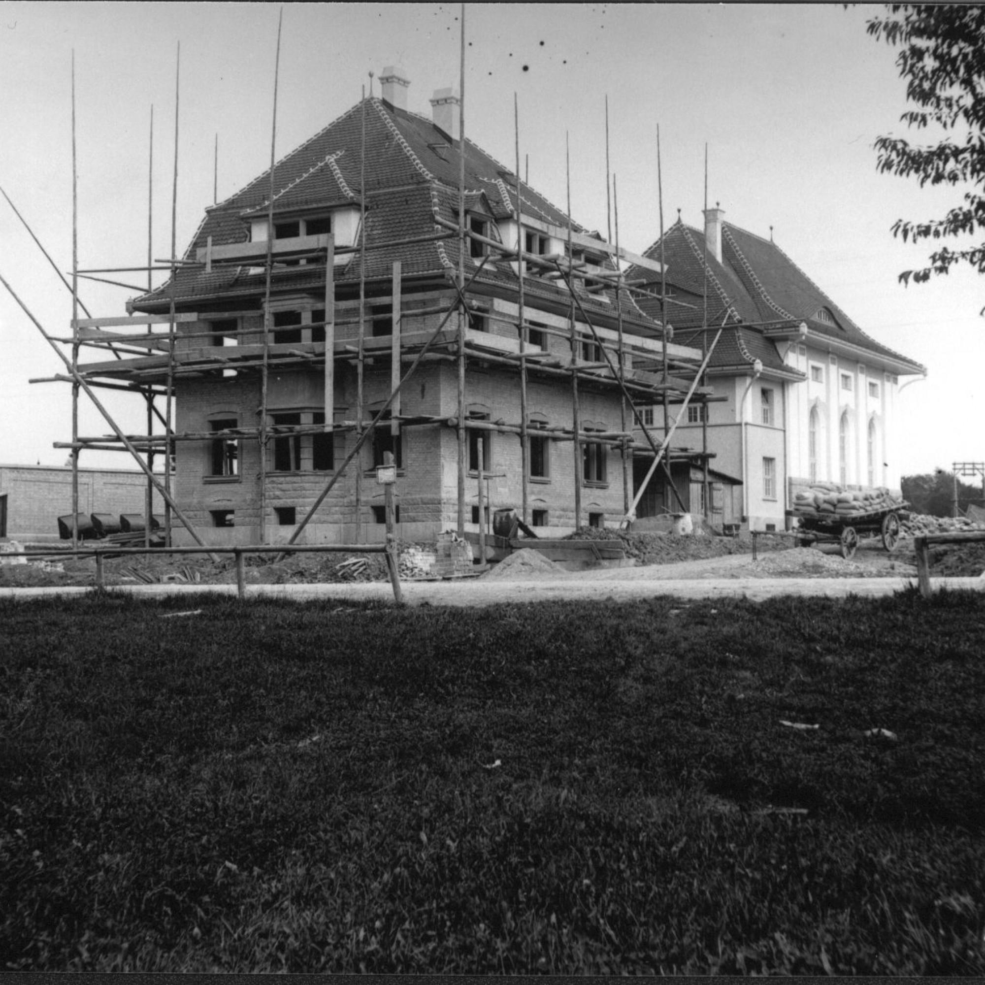 Bau Wohnhaus beim Seewasserwerk Moos 1913