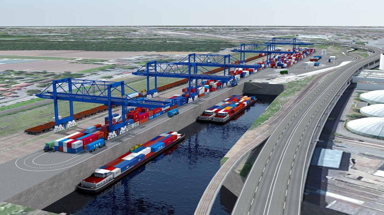 Visualisierung Containerterminal Gateway Basel Nord Visualisierung